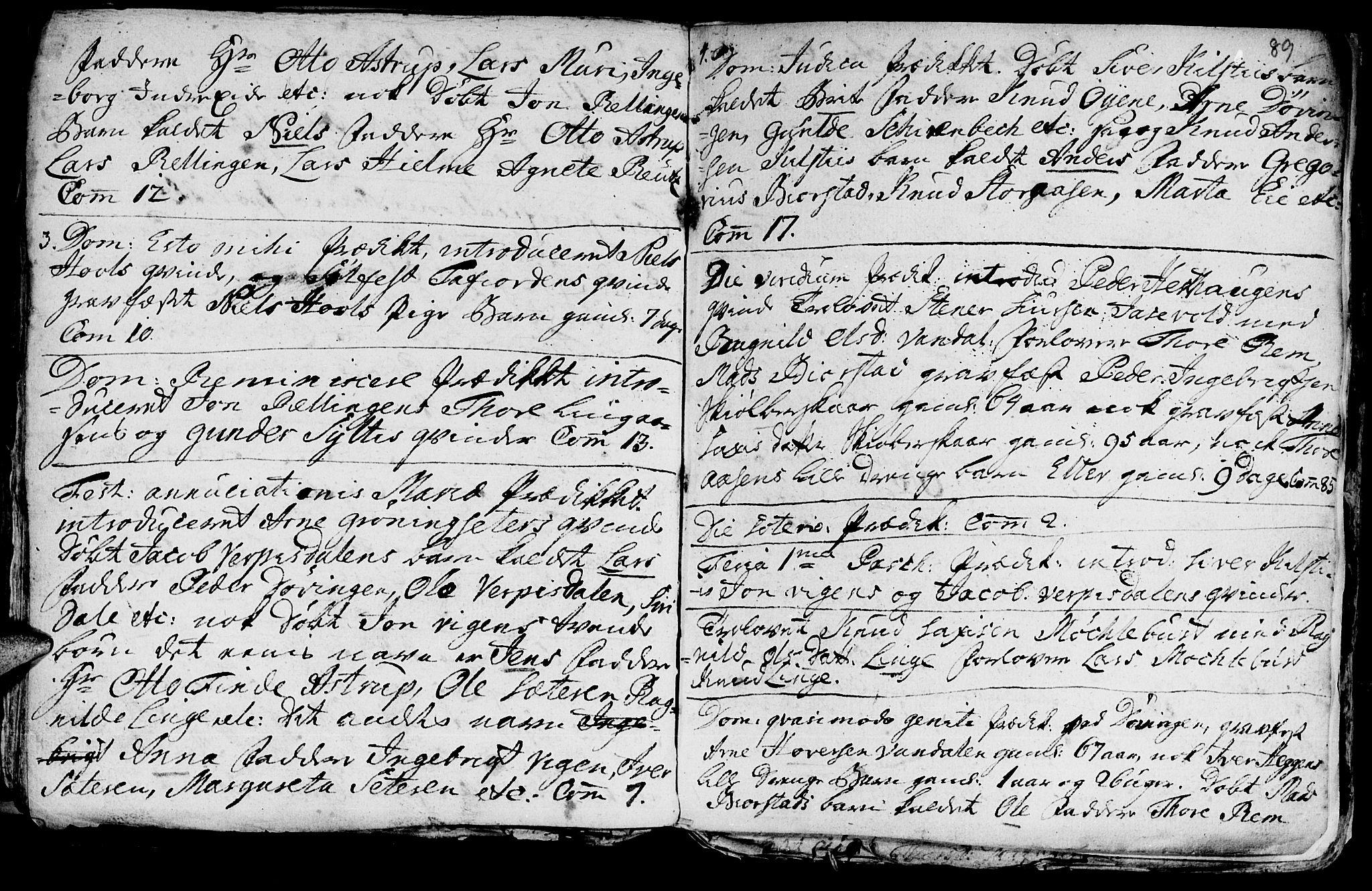 SAT, Ministerialprotokoller, klokkerbøker og fødselsregistre - Møre og Romsdal, 519/L0240: Ministerialbok nr. 519A01 /1, 1736-1760, s. 89