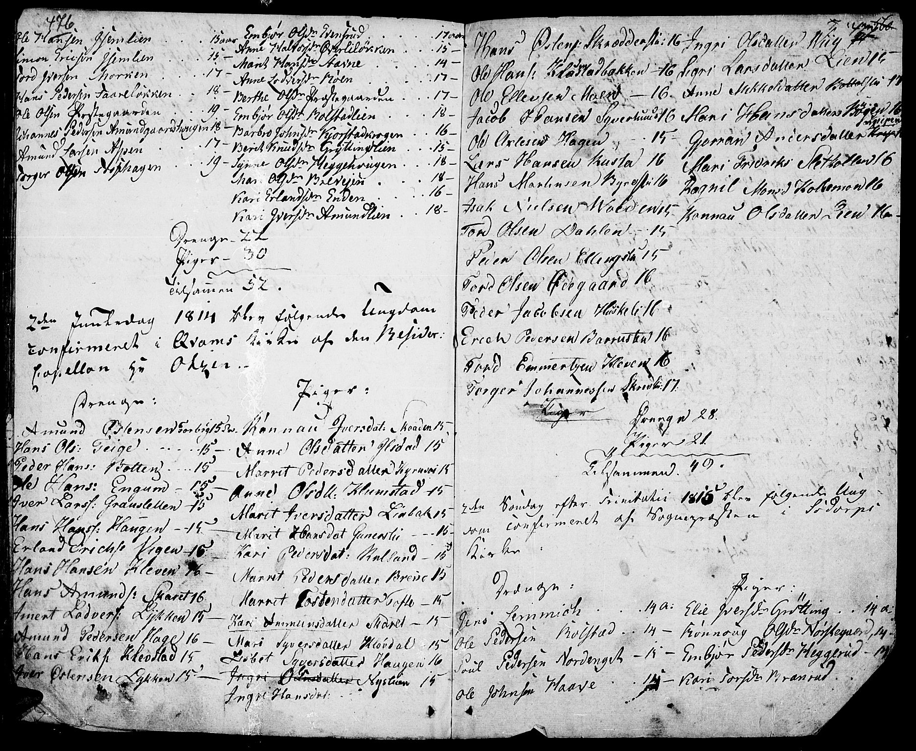SAH, Fron prestekontor, H/Ha/Haa/L0001: Ministerialbok nr. 1, 1799-1816, s. 476-477