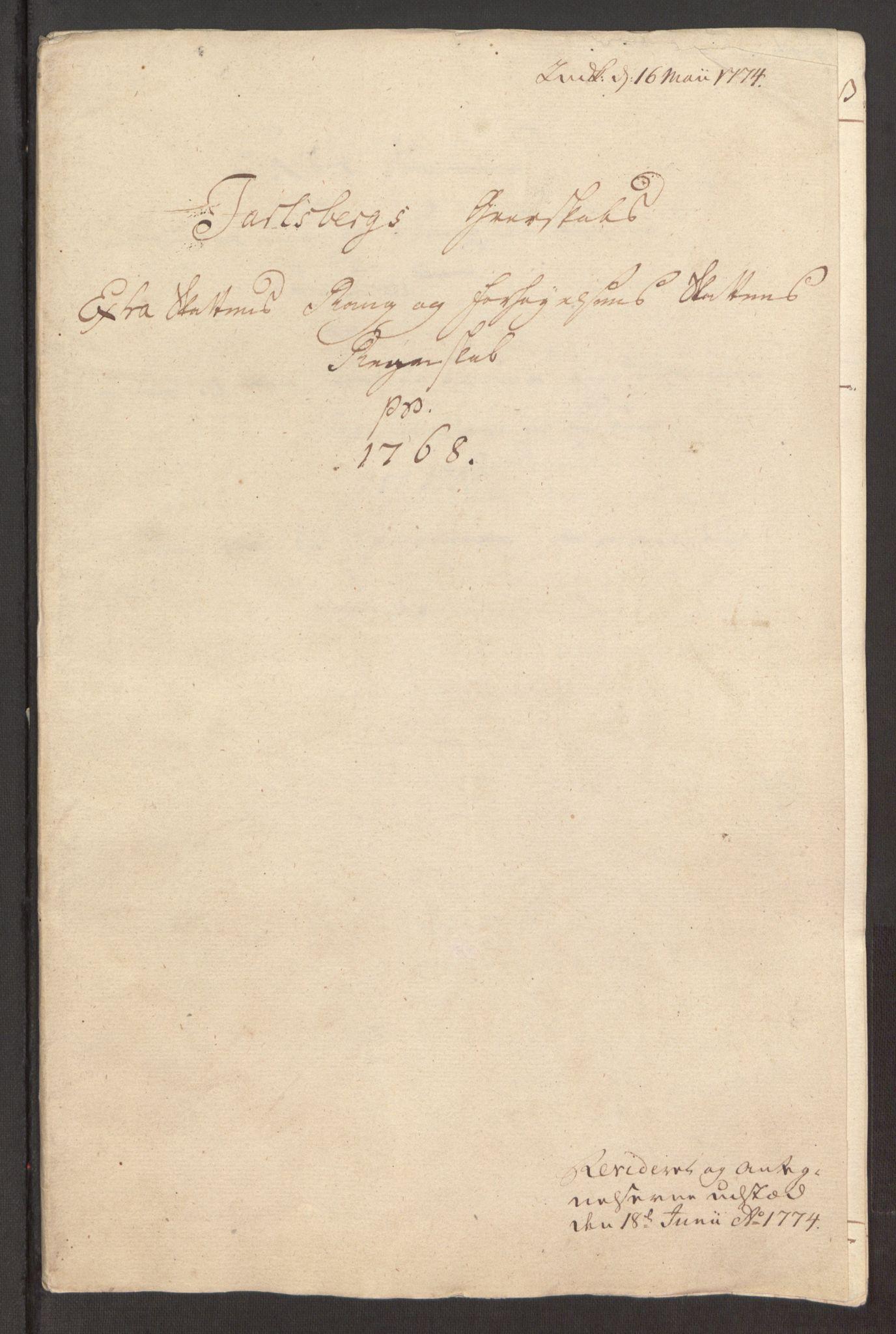 RA, Rentekammeret inntil 1814, Reviderte regnskaper, Fogderegnskap, R32/L1960: Ekstraskatten Jarlsberg grevskap, 1762-1772, s. 137