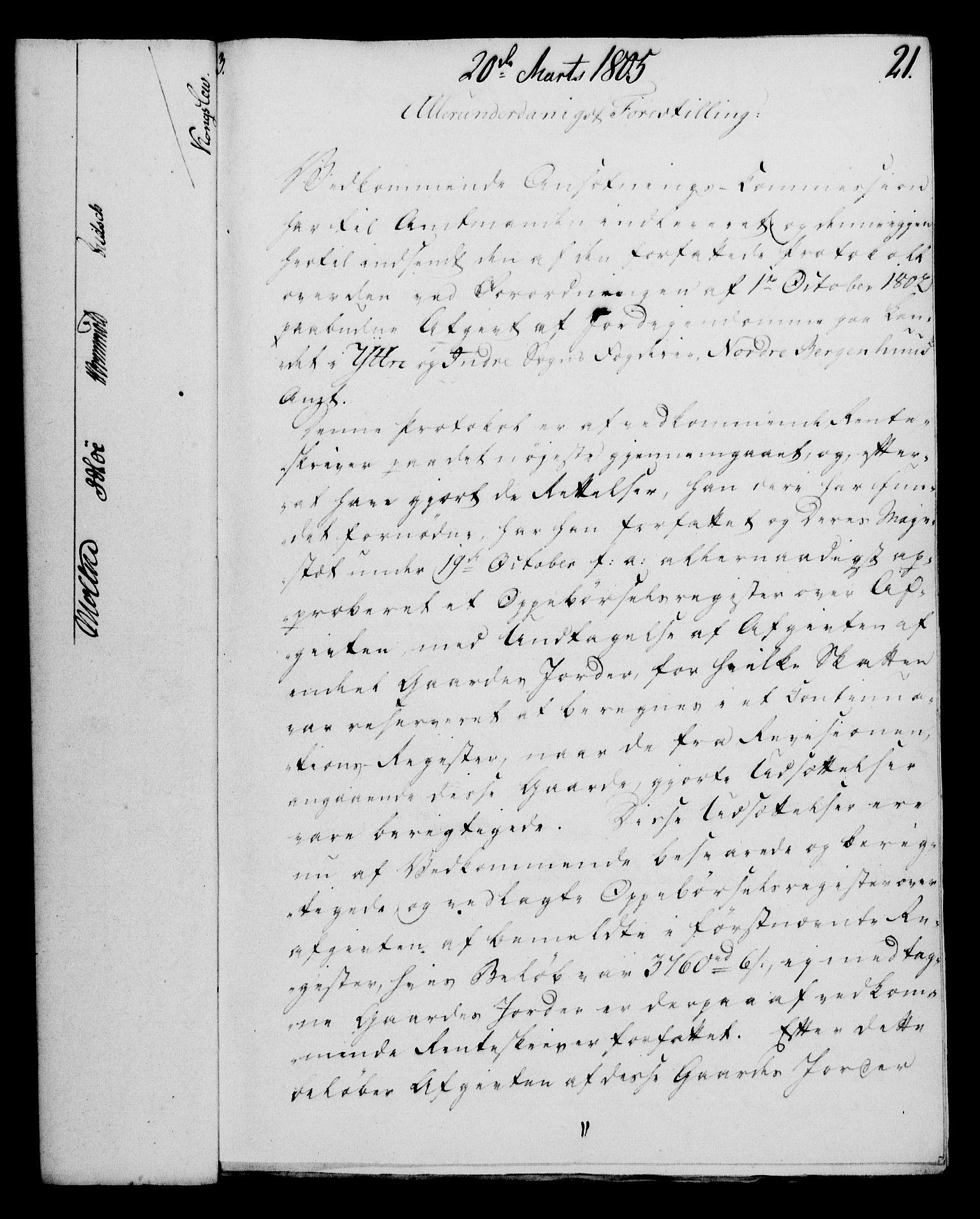 RA, Rentekammeret, Kammerkanselliet, G/Gf/Gfa/L0087: Norsk relasjons- og resolusjonsprotokoll (merket RK 52.87), 1805, s. 143