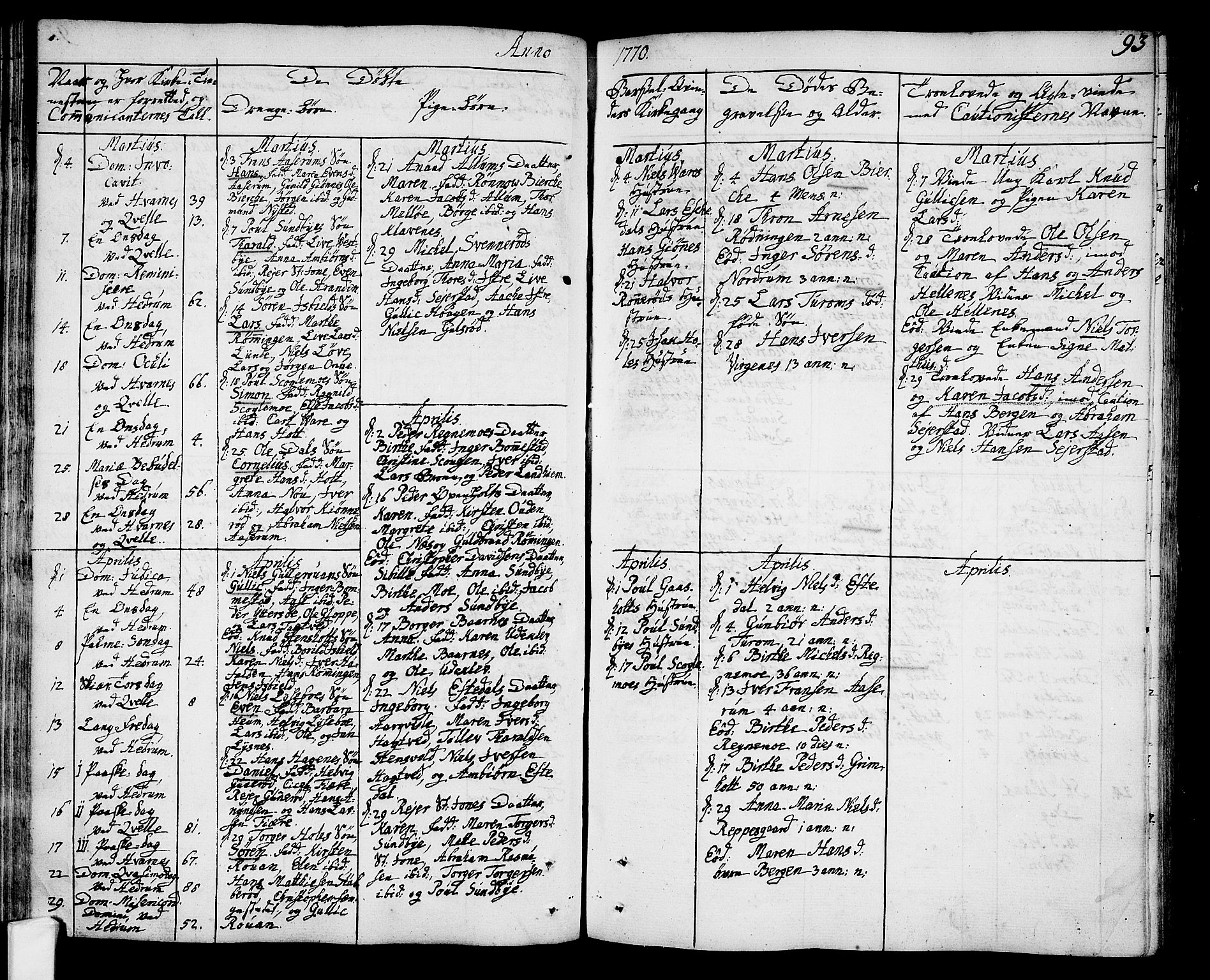 SAKO, Hedrum kirkebøker, F/Fa/L0001: Ministerialbok nr. I 1, 1751-1785, s. 93