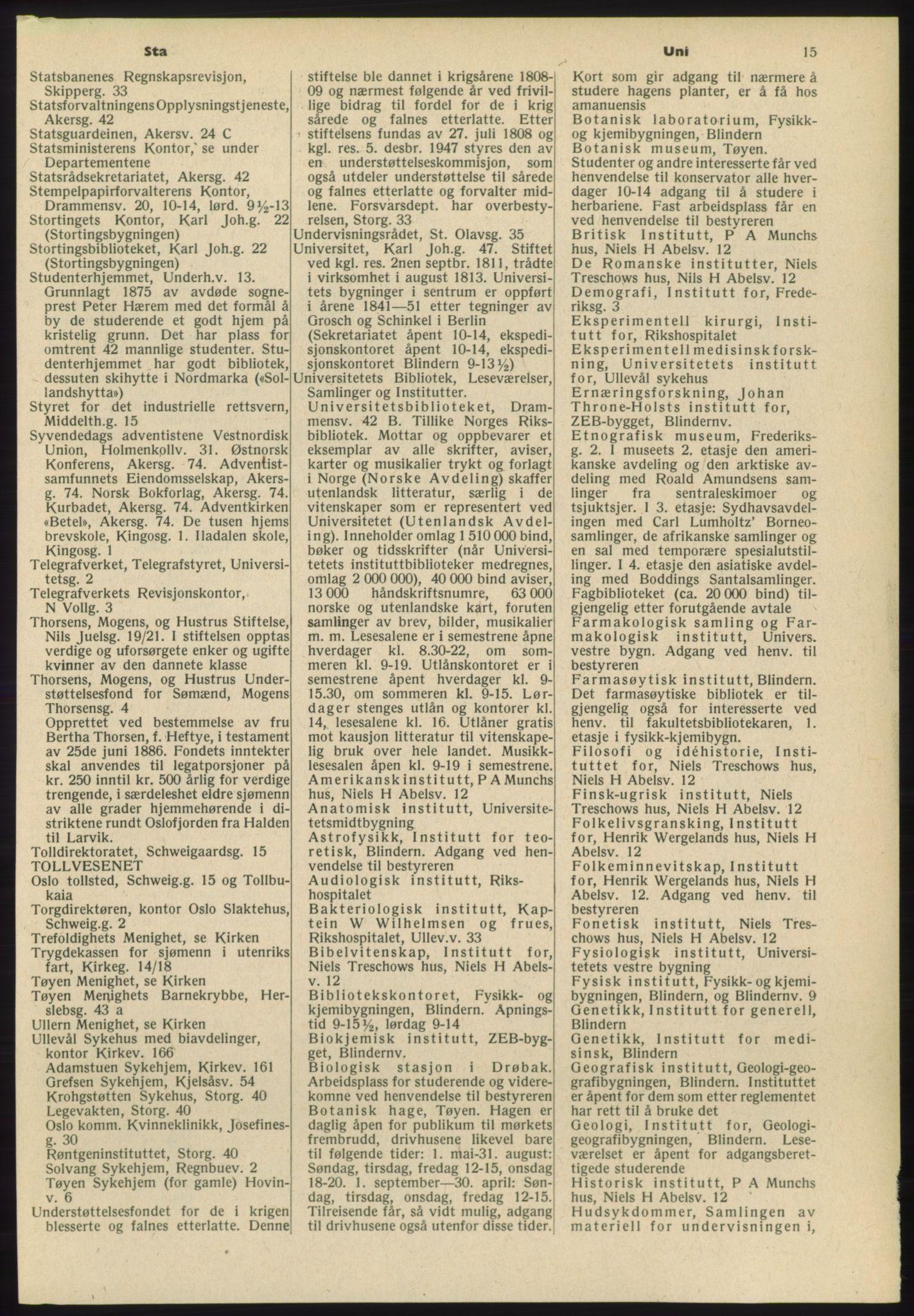 RA, Oslo adressebok (publikasjon)*, 1965-1966, s. 15