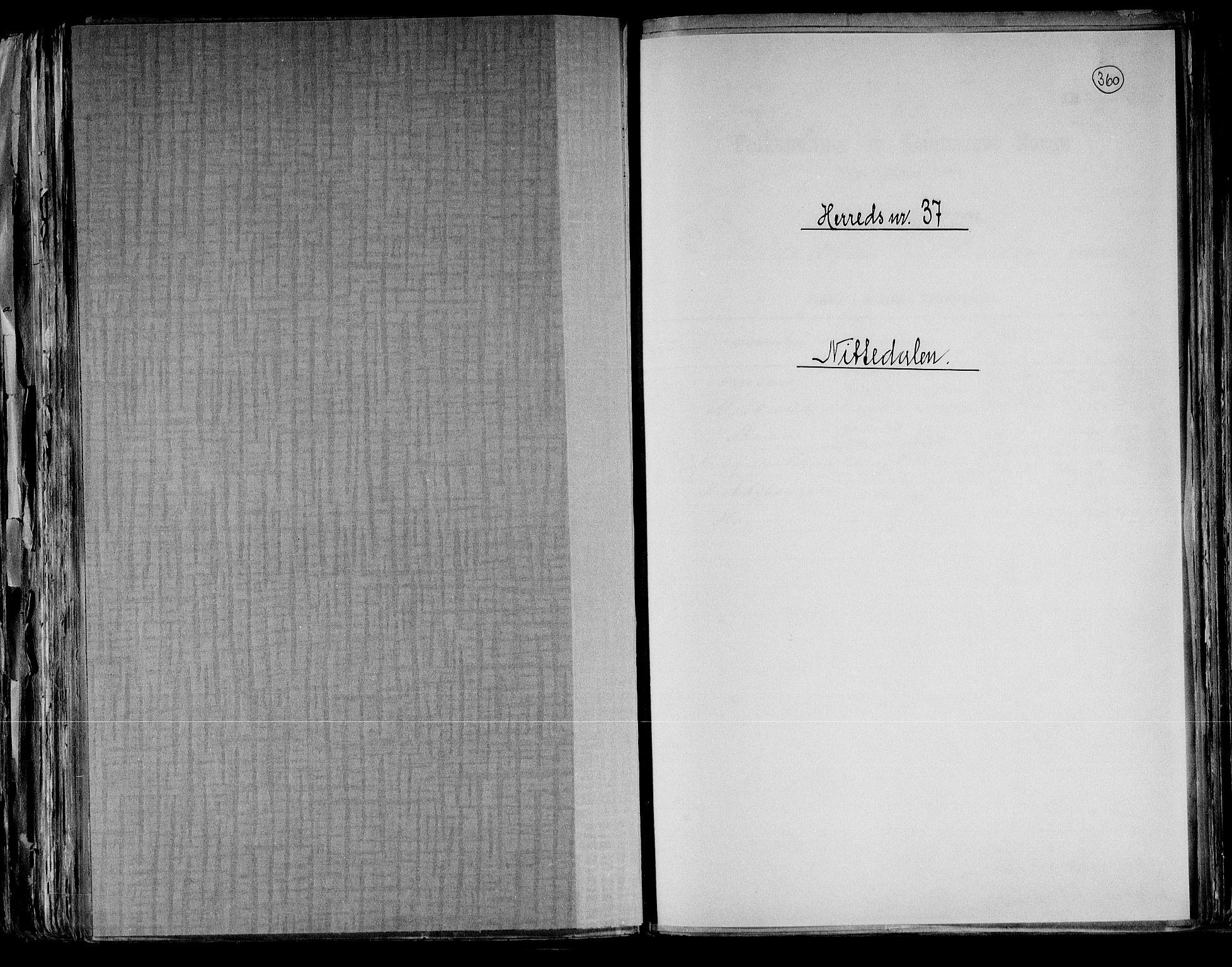 RA, Folketelling 1891 for 0233 Nittedal herred, 1891, s. 1