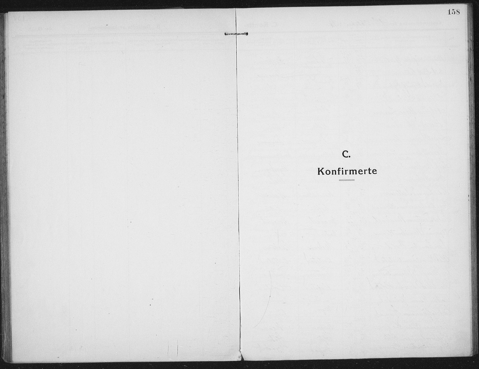 SAT, Ministerialprotokoller, klokkerbøker og fødselsregistre - Nord-Trøndelag, 709/L0083: Ministerialbok nr. 709A23, 1916-1928, s. 158