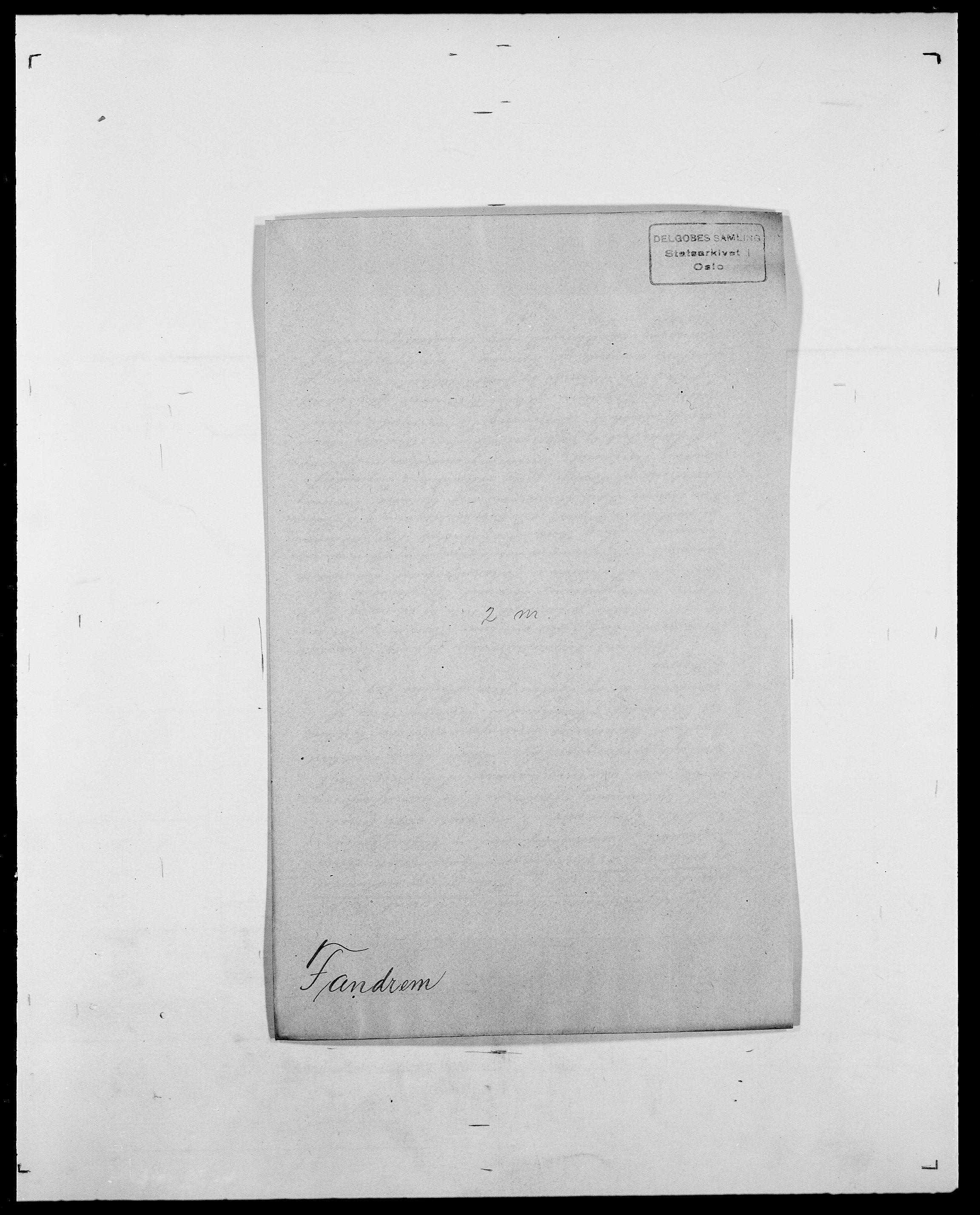 SAO, Delgobe, Charles Antoine - samling, D/Da/L0011: Fahlander - Flood, Flod, s. 167