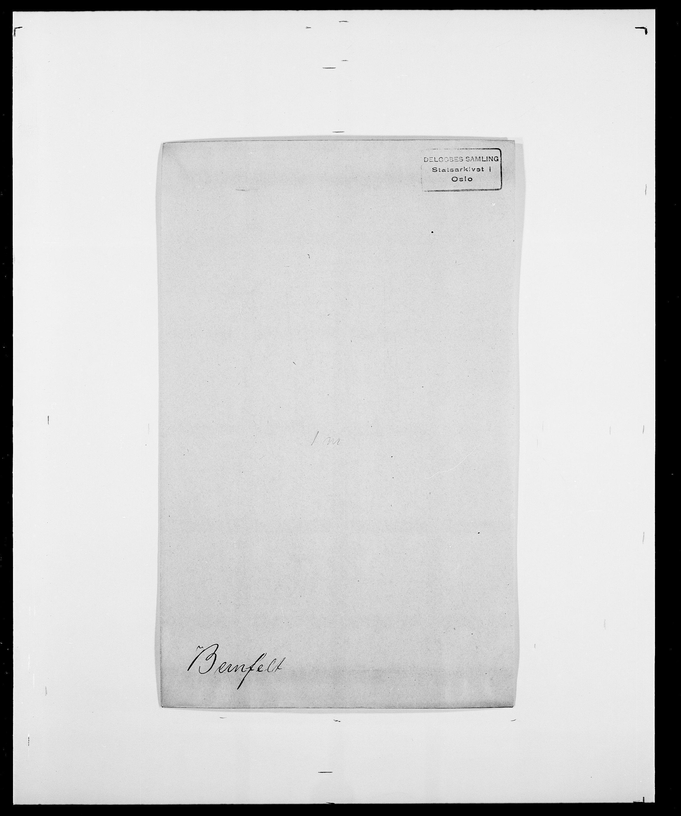 SAO, Delgobe, Charles Antoine - samling, D/Da/L0004: Bergendahl - Blære, s. 85