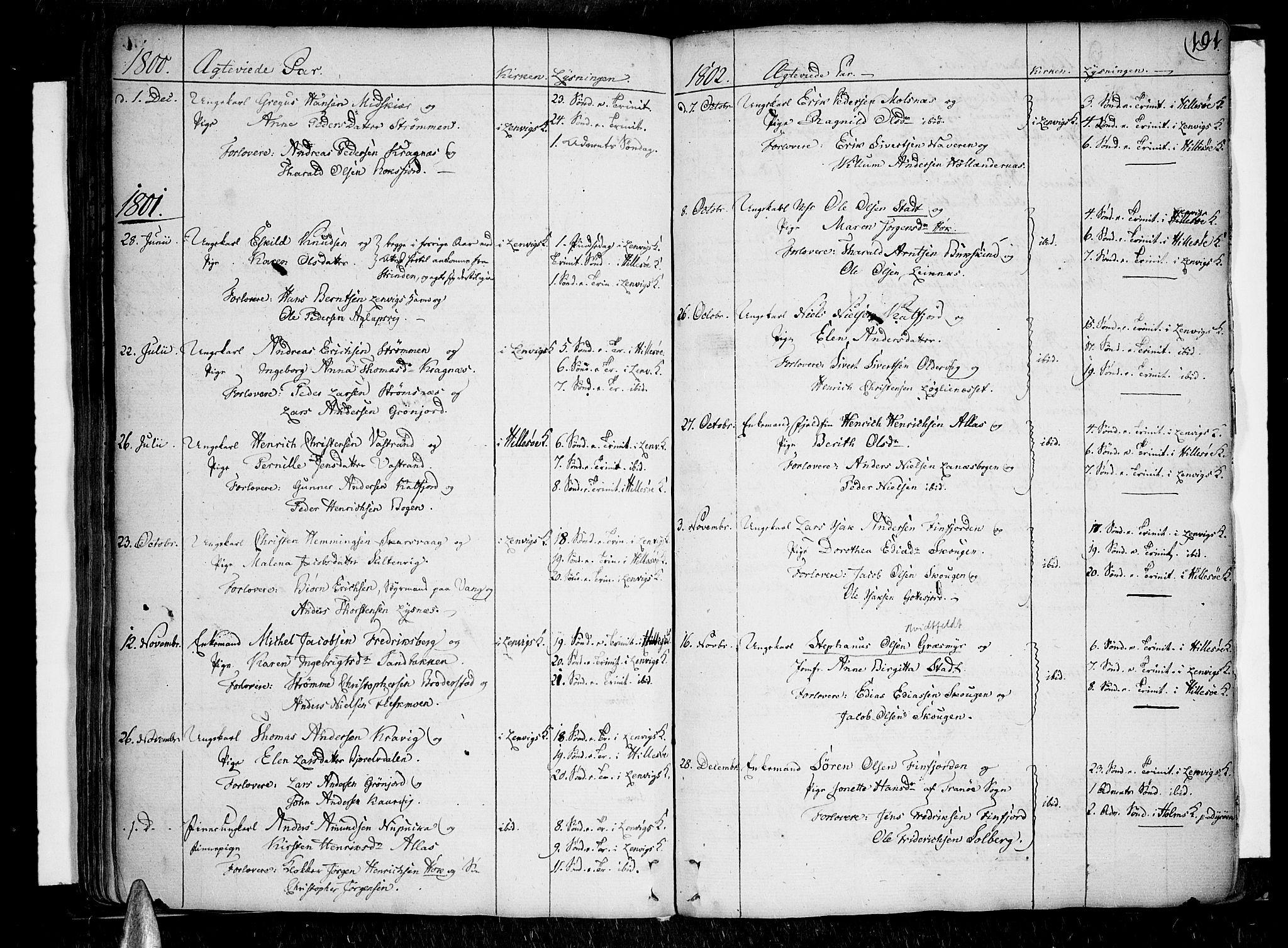 SATØ, Lenvik sokneprestembete, H/Ha: Ministerialbok nr. 2, 1784-1820, s. 191