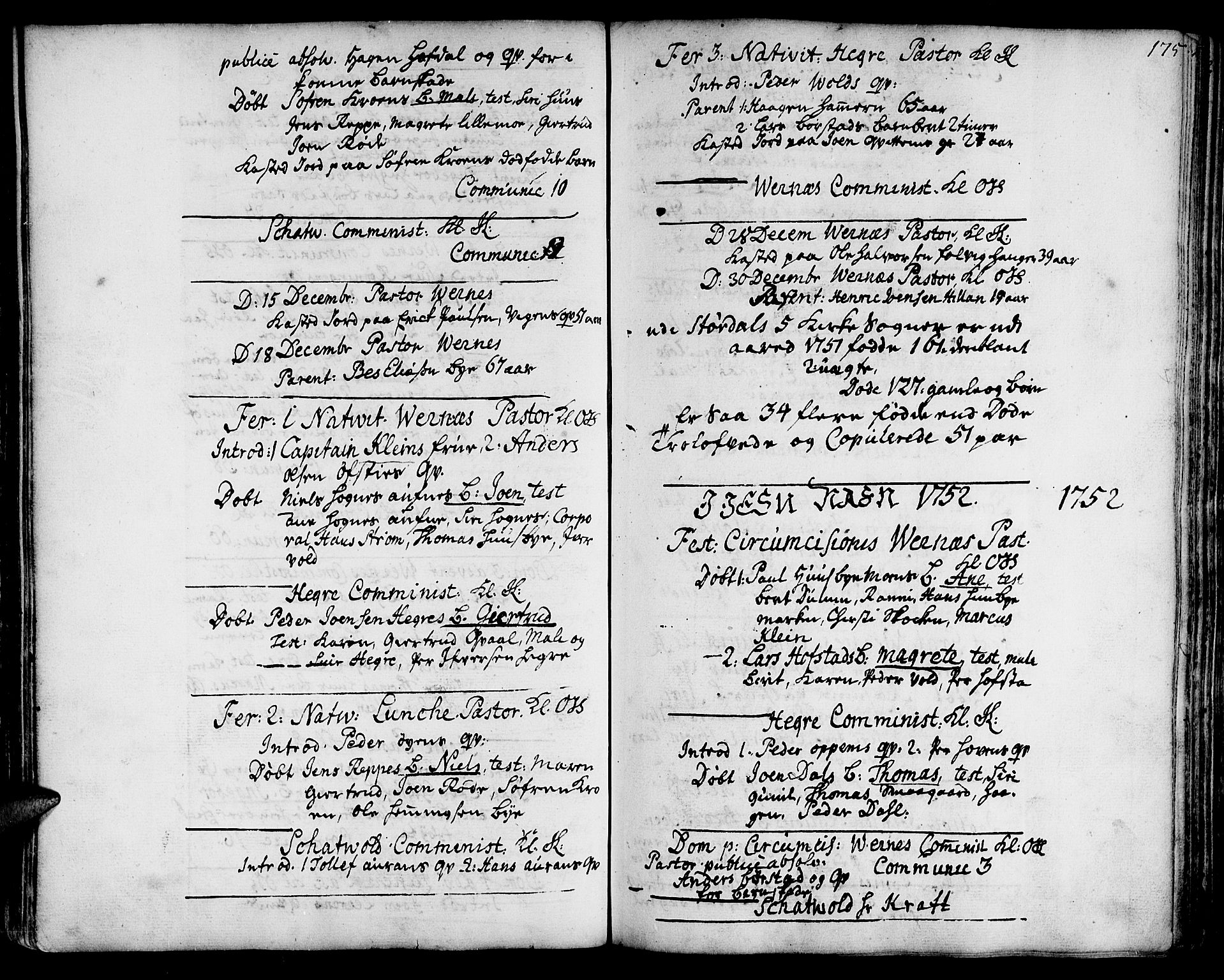 SAT, Ministerialprotokoller, klokkerbøker og fødselsregistre - Nord-Trøndelag, 709/L0056: Ministerialbok nr. 709A04, 1740-1756, s. 175