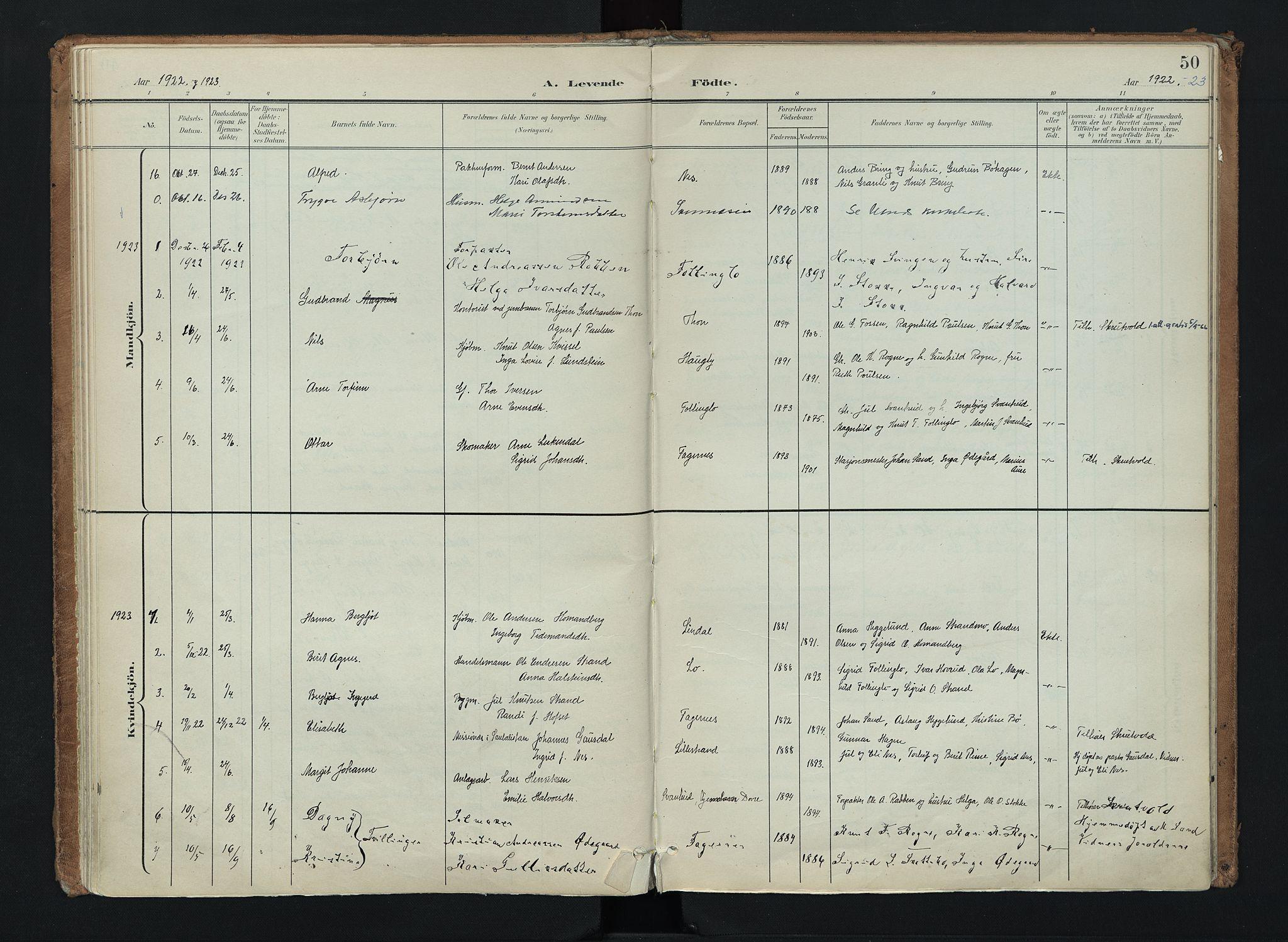 SAH, Nord-Aurdal prestekontor, Ministerialbok nr. 16, 1897-1925, s. 50