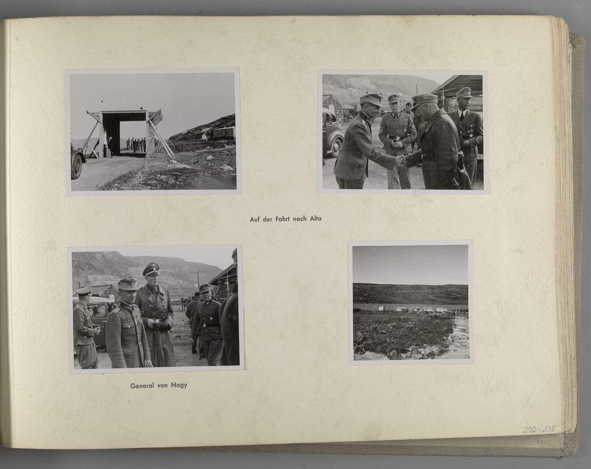 RA, Tyske arkiver, Reichskommissariat, Bildarchiv, U/L0071: Fotoalbum: Mit dem Reichskommissar nach Nordnorwegen und Finnland 10. bis 27. Juli 1942, 1942, s. 95