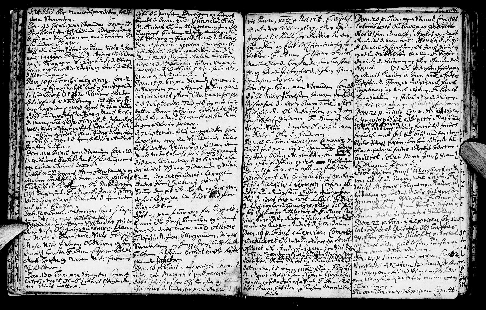 SAT, Ministerialprotokoller, klokkerbøker og fødselsregistre - Nord-Trøndelag, 701/L0001: Ministerialbok nr. 701A01, 1717-1731, s. 22