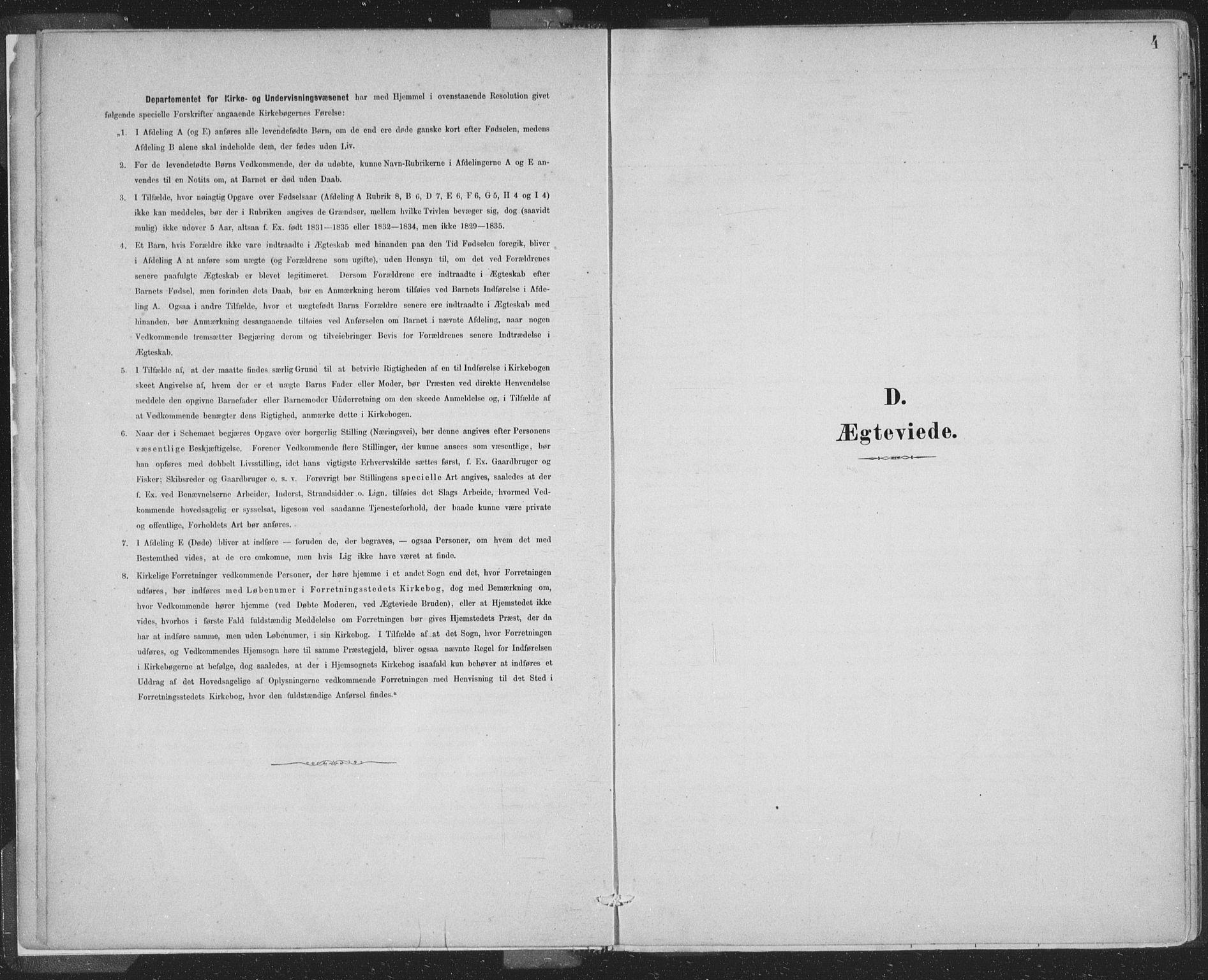 SAB, Domkirken Sokneprestembete, H/Hab/L0032: Klokkerbok nr. D 4, 1880-1907, s. 4