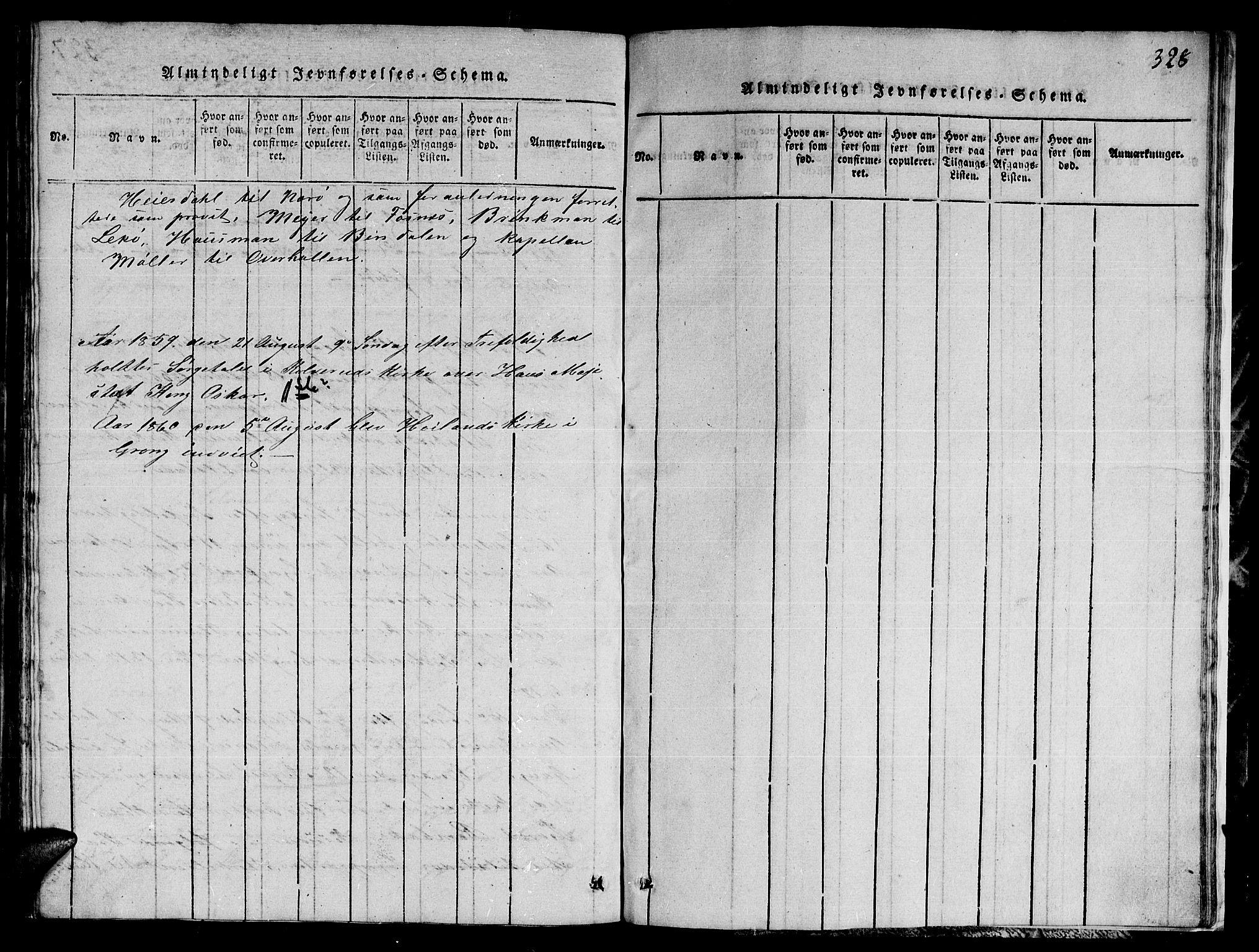 SAT, Ministerialprotokoller, klokkerbøker og fødselsregistre - Nord-Trøndelag, 780/L0648: Klokkerbok nr. 780C01 /1, 1815-1870, s. 328