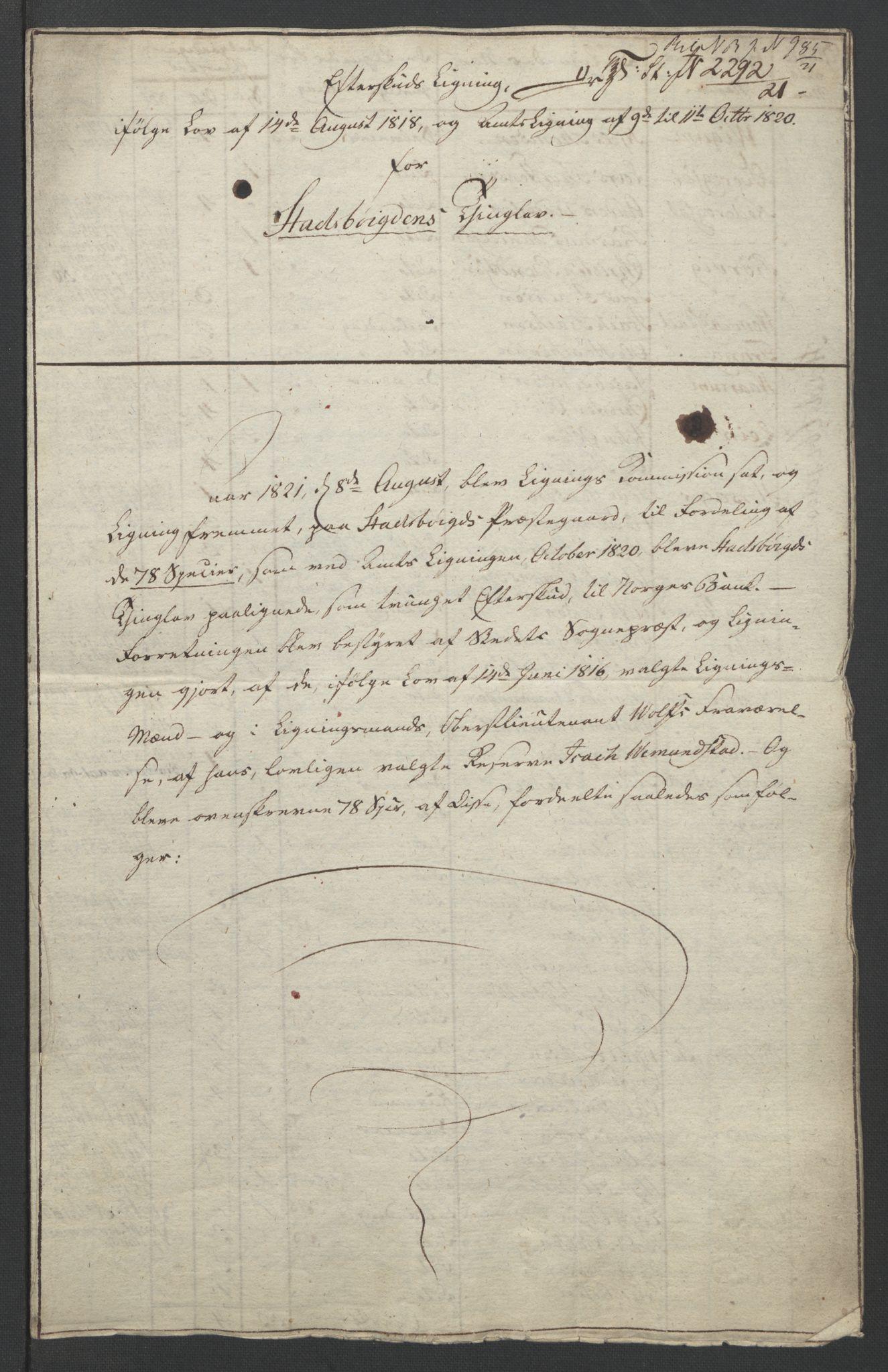 NOBA, Norges Bank/Sølvskatten 1816*, 1816-1822, s. 18