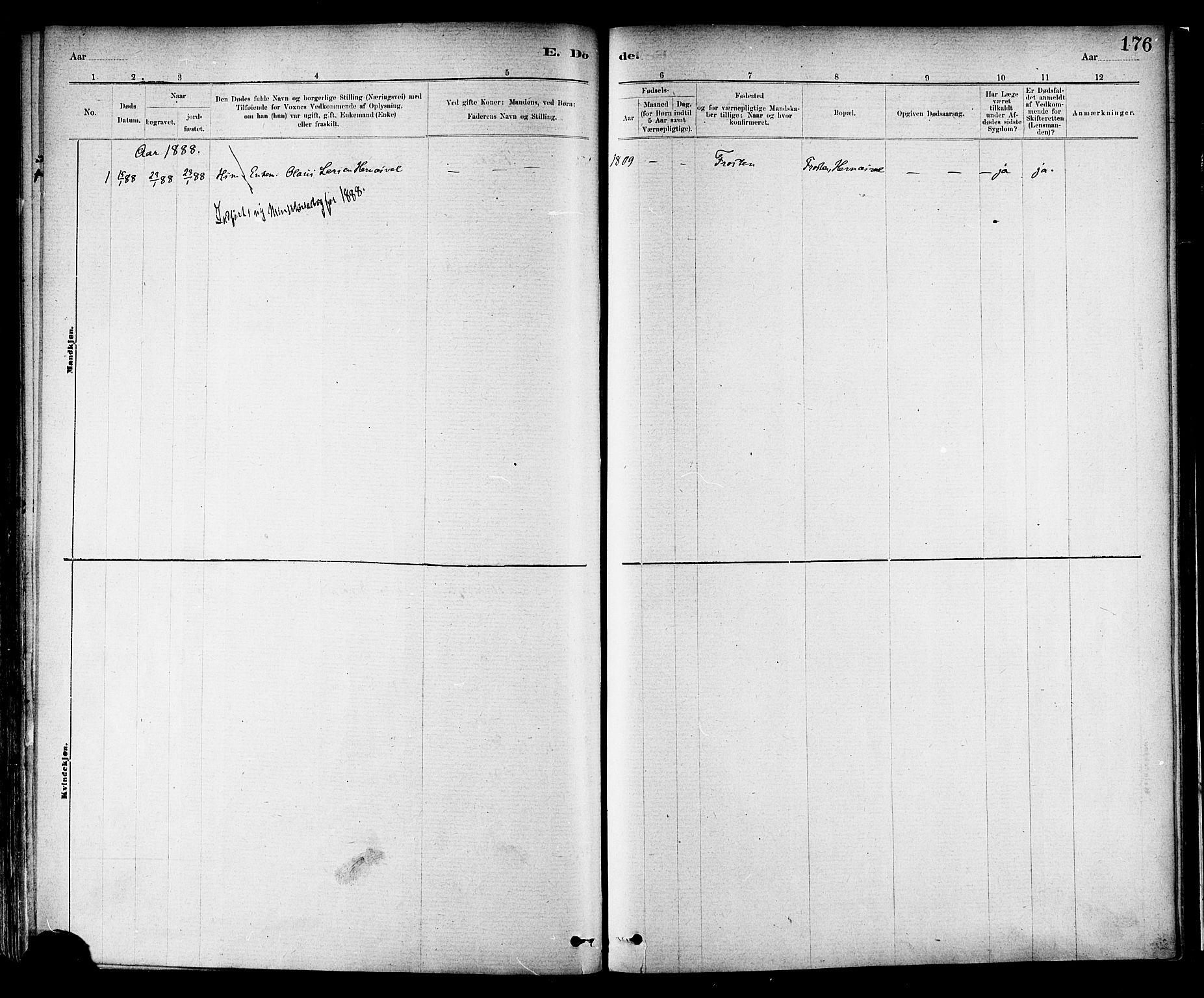 SAT, Ministerialprotokoller, klokkerbøker og fødselsregistre - Nord-Trøndelag, 713/L0120: Ministerialbok nr. 713A09, 1878-1887, s. 176