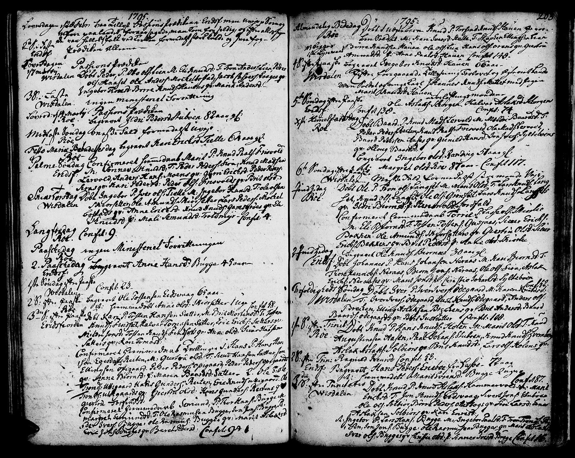 SAT, Ministerialprotokoller, klokkerbøker og fødselsregistre - Møre og Romsdal, 551/L0621: Ministerialbok nr. 551A01, 1757-1803, s. 203