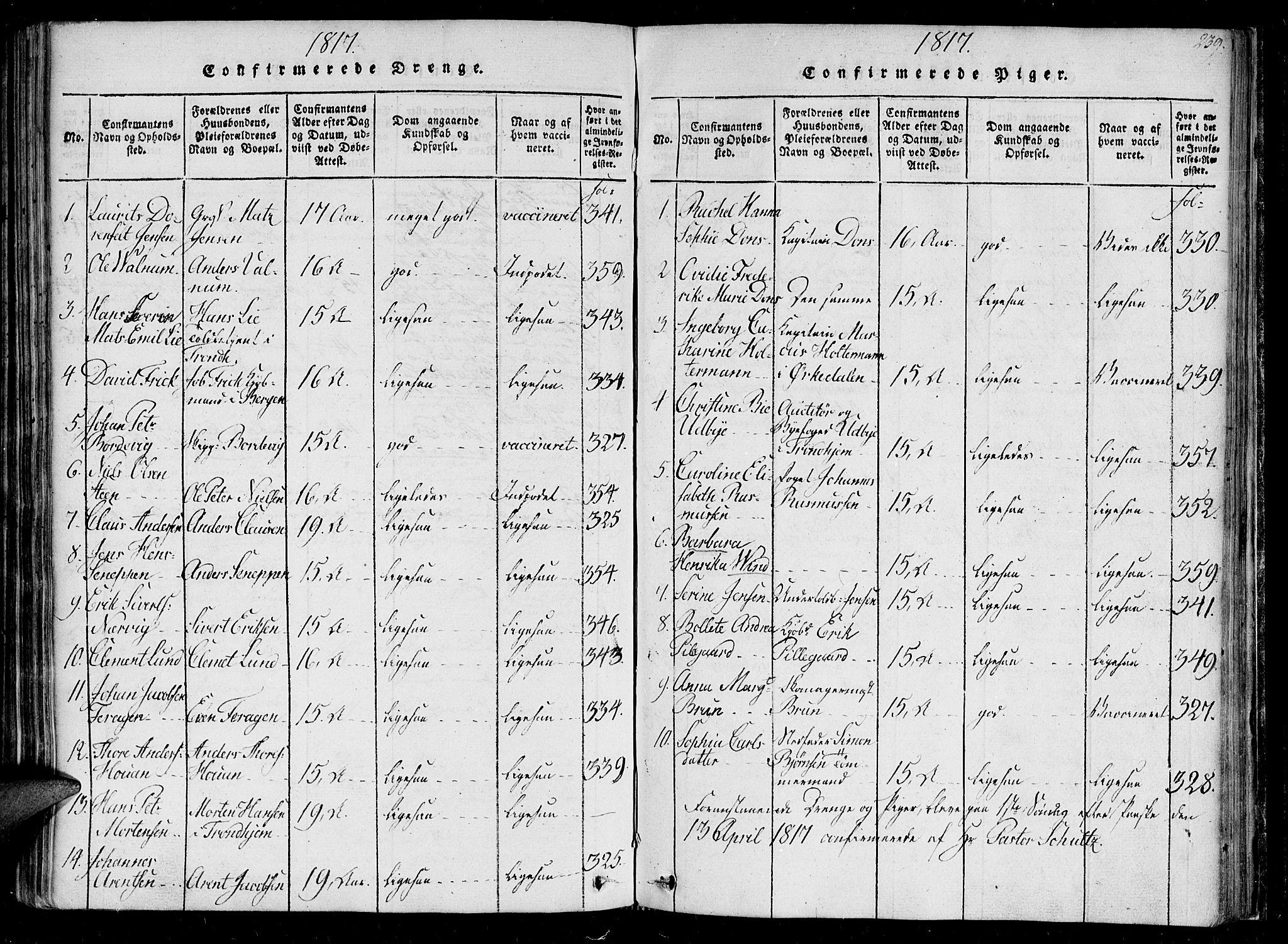 SAT, Ministerialprotokoller, klokkerbøker og fødselsregistre - Sør-Trøndelag, 602/L0107: Ministerialbok nr. 602A05, 1815-1821, s. 239