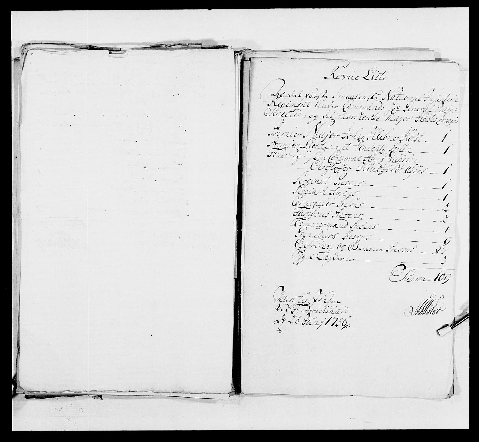 RA, Kommanderende general (KG I) med Det norske krigsdirektorium, E/Ea/L0495: 1. Smålenske regiment, 1732-1763, s. 624