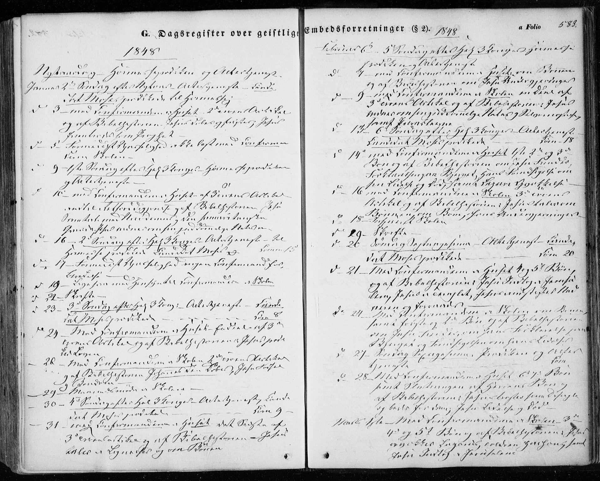 SAT, Ministerialprotokoller, klokkerbøker og fødselsregistre - Sør-Trøndelag, 601/L0051: Ministerialbok nr. 601A19, 1848-1857, s. 583