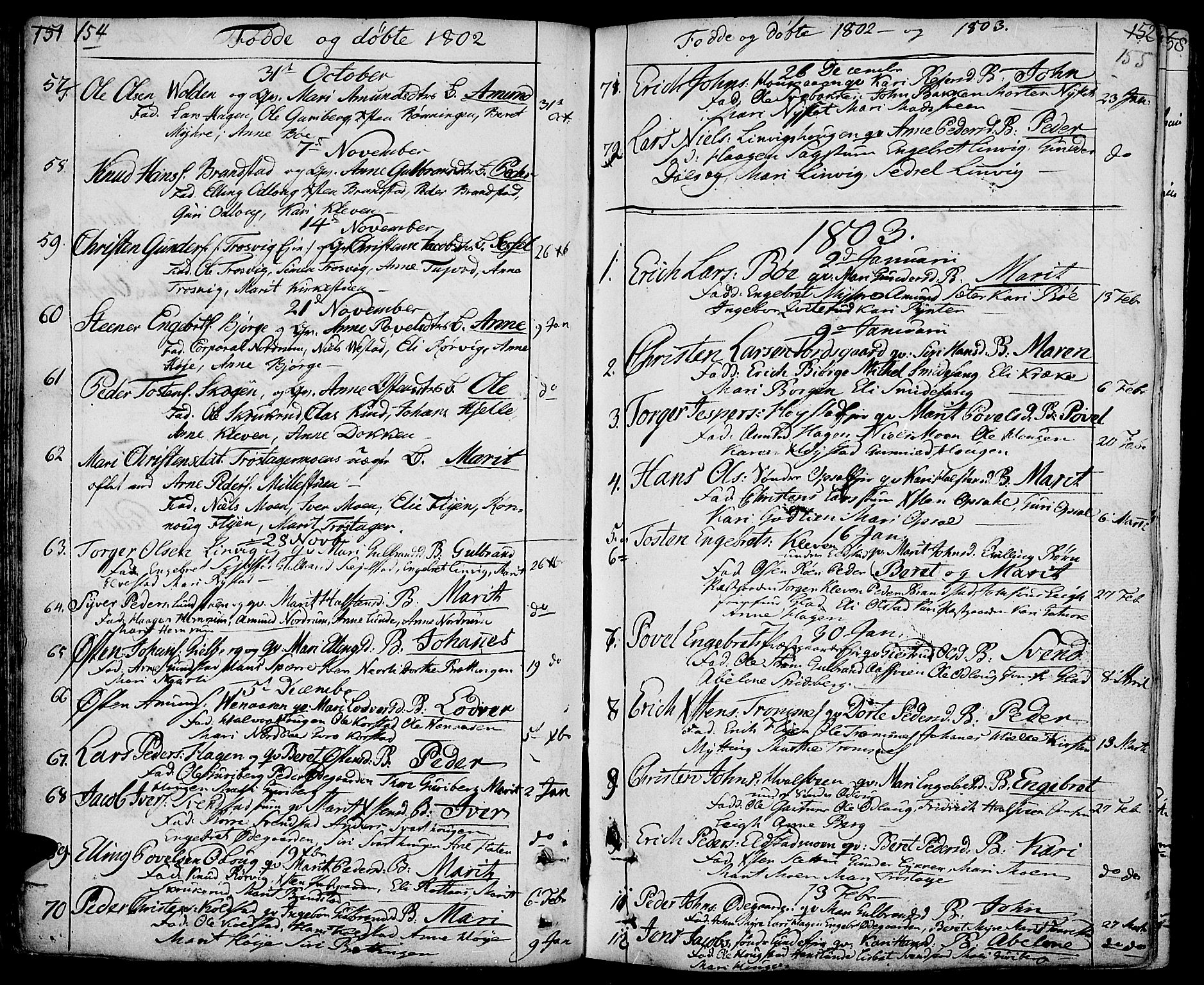 SAH, Ringebu prestekontor, Ministerialbok nr. 3, 1781-1820, s. 154-155