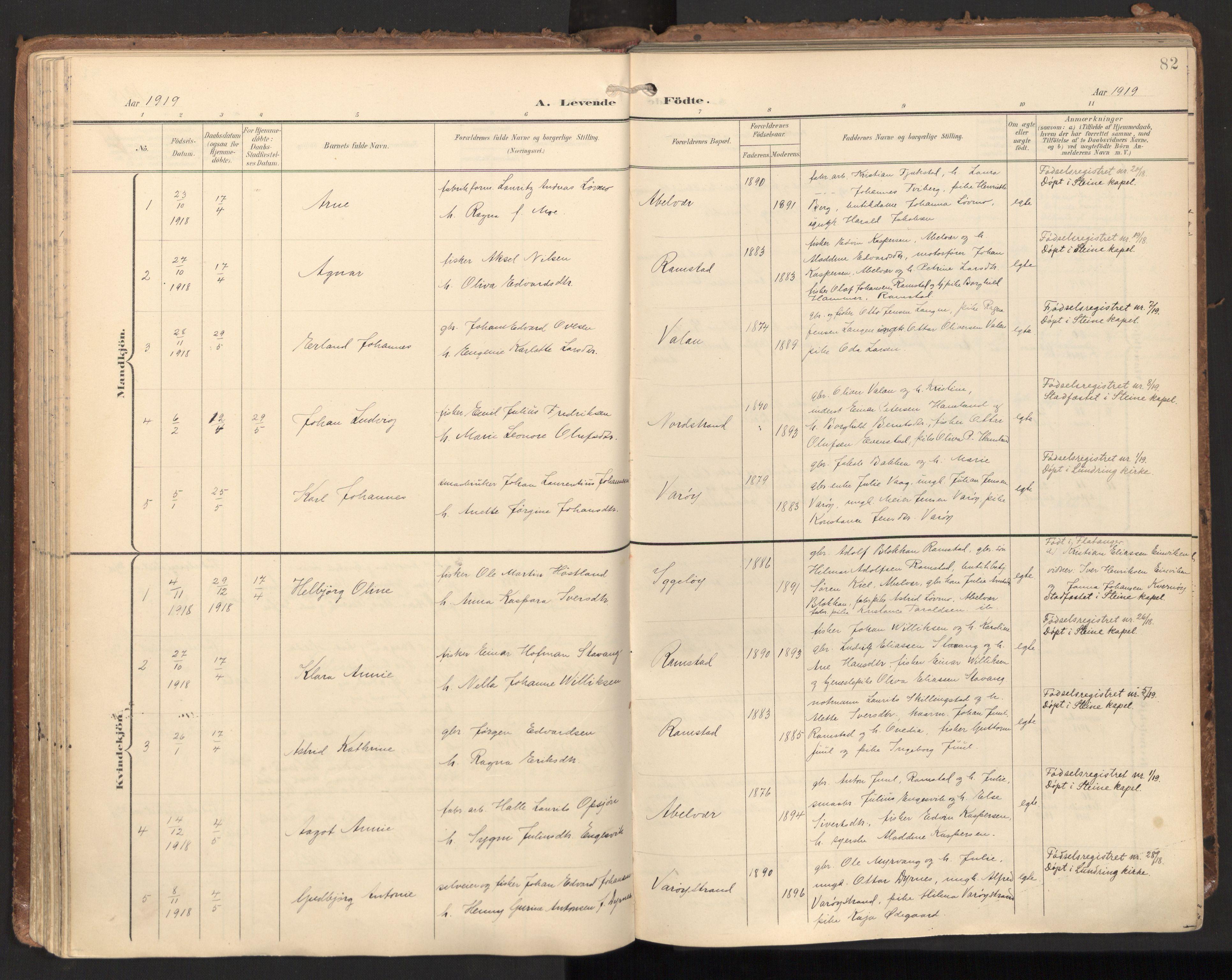 SAT, Ministerialprotokoller, klokkerbøker og fødselsregistre - Nord-Trøndelag, 784/L0677: Ministerialbok nr. 784A12, 1900-1920, s. 82