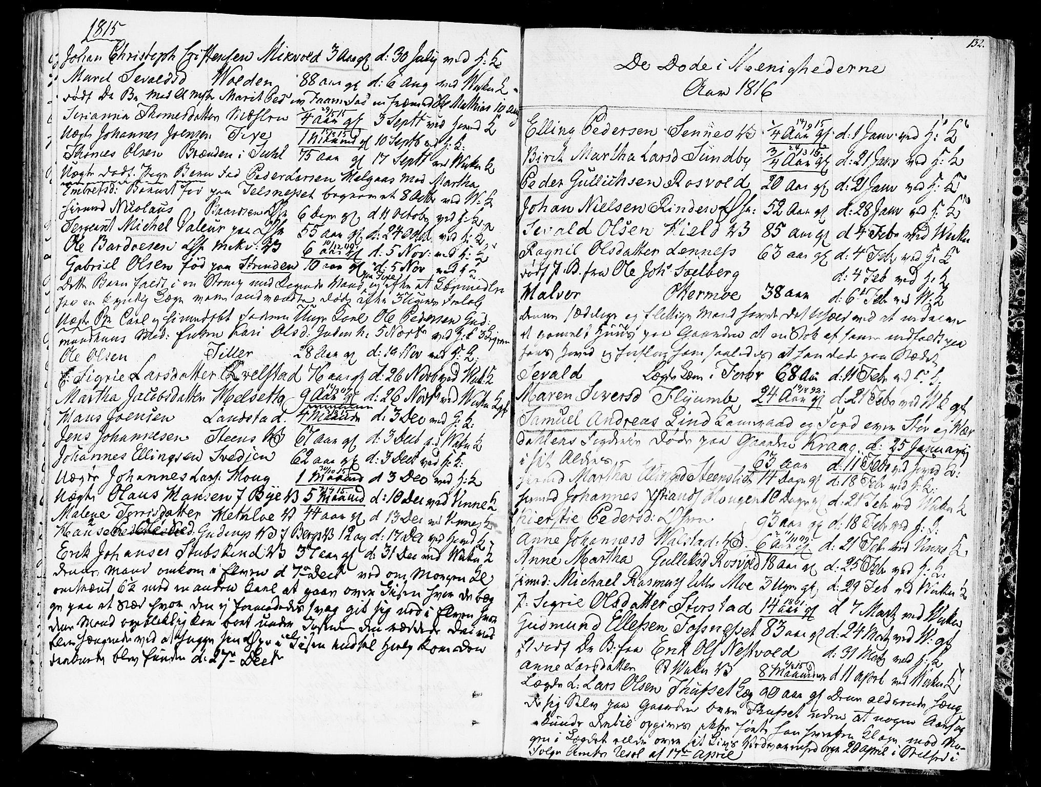 SAT, Ministerialprotokoller, klokkerbøker og fødselsregistre - Nord-Trøndelag, 723/L0233: Ministerialbok nr. 723A04, 1805-1816, s. 132