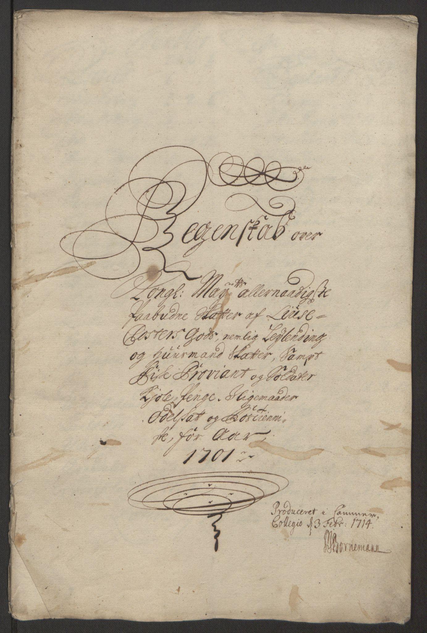 RA, Rentekammeret inntil 1814, Reviderte regnskaper, Fogderegnskap, R50/L3159: Fogderegnskap Lyse kloster, 1691-1709, s. 136