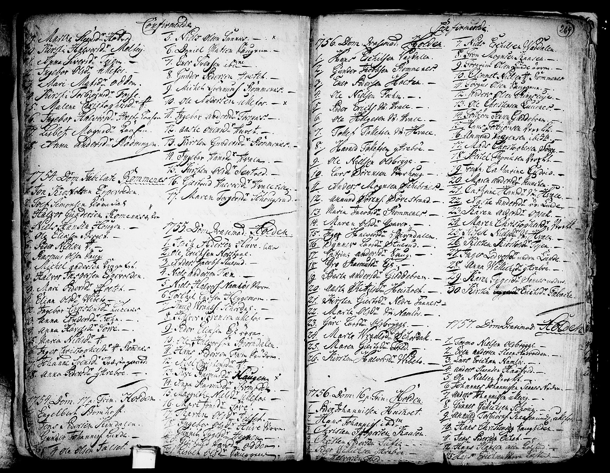 SAKO, Holla kirkebøker, F/Fa/L0001: Ministerialbok nr. 1, 1717-1779, s. 269