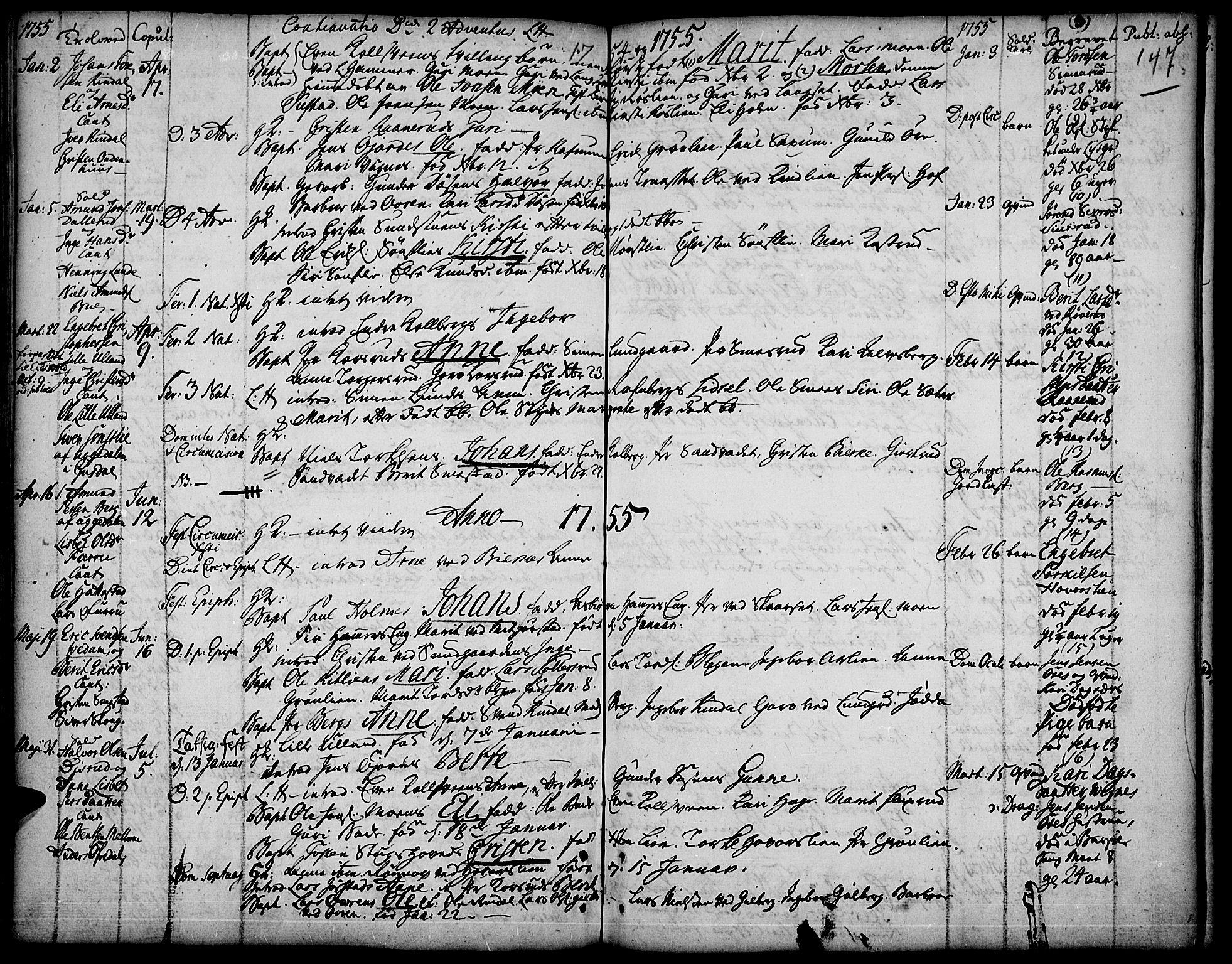 SAH, Fåberg prestekontor, Ministerialbok nr. 1, 1727-1775, s. 147