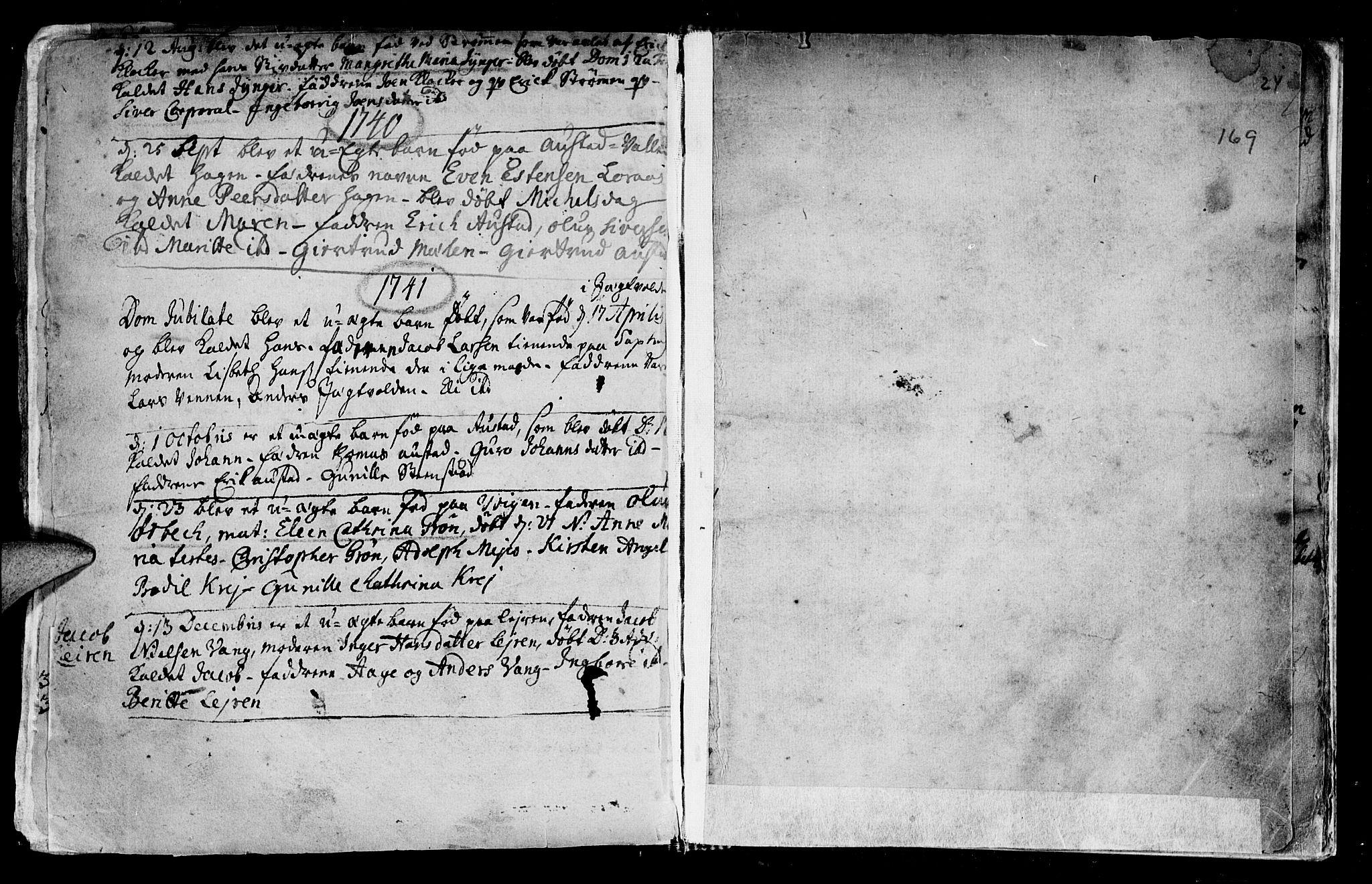 SAT, Ministerialprotokoller, klokkerbøker og fødselsregistre - Nord-Trøndelag, 730/L0272: Ministerialbok nr. 730A01, 1733-1764, s. 169