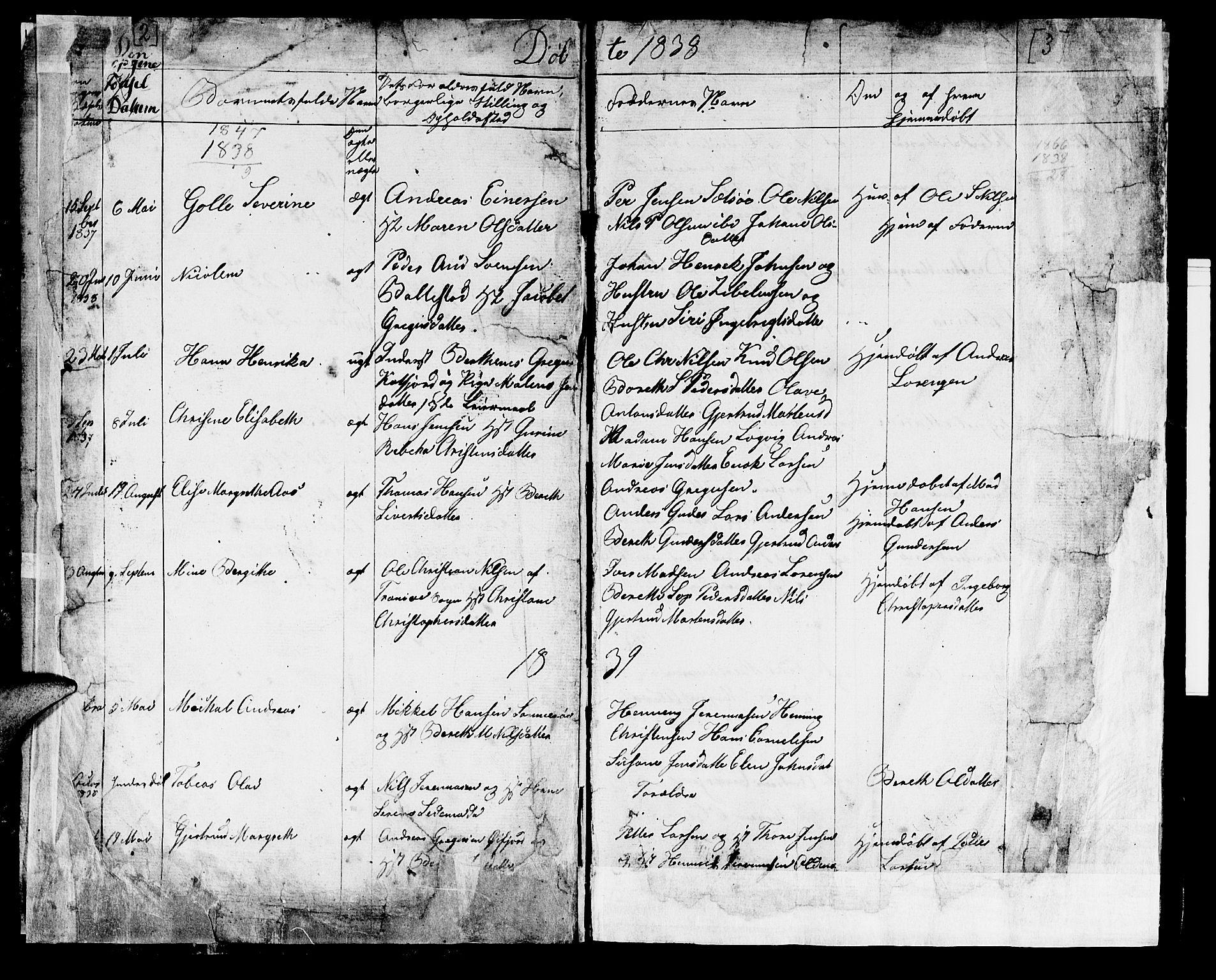 SATØ, Lenvik sokneprestembete, H/Ha: Klokkerbok nr. 18, 1838-1854, s. 2-3