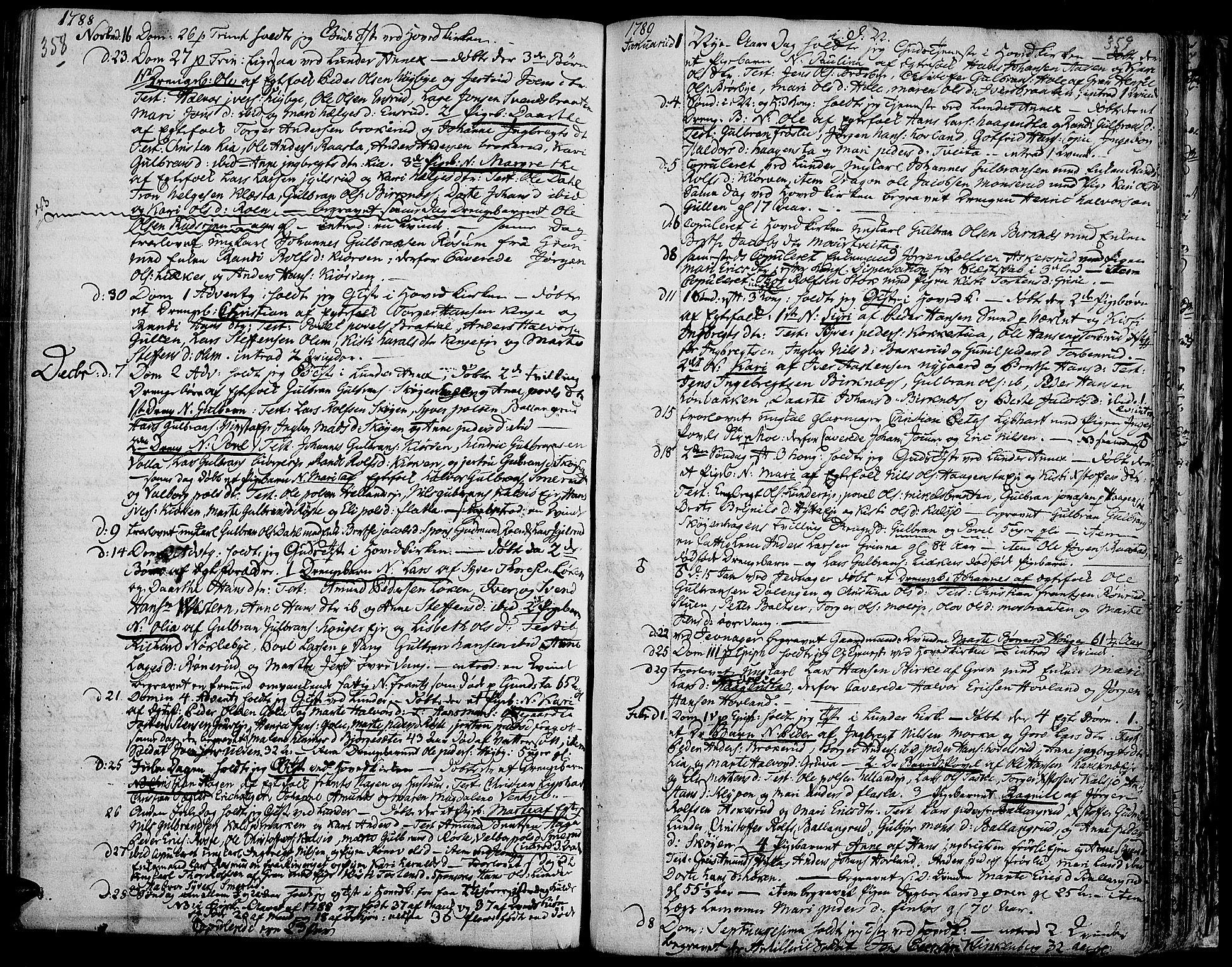 SAH, Jevnaker prestekontor, Ministerialbok nr. 3, 1752-1799, s. 358-359