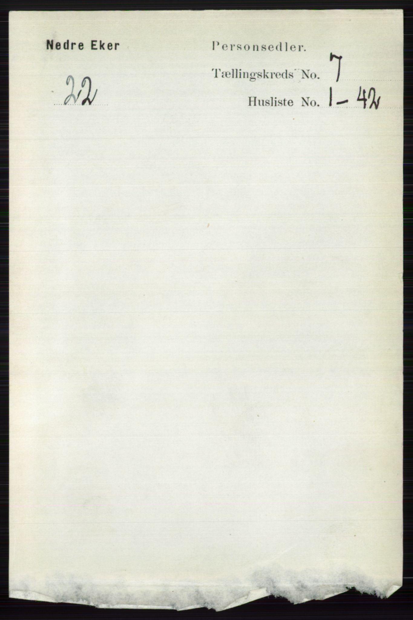 RA, Folketelling 1891 for 0625 Nedre Eiker herred, 1891, s. 3404