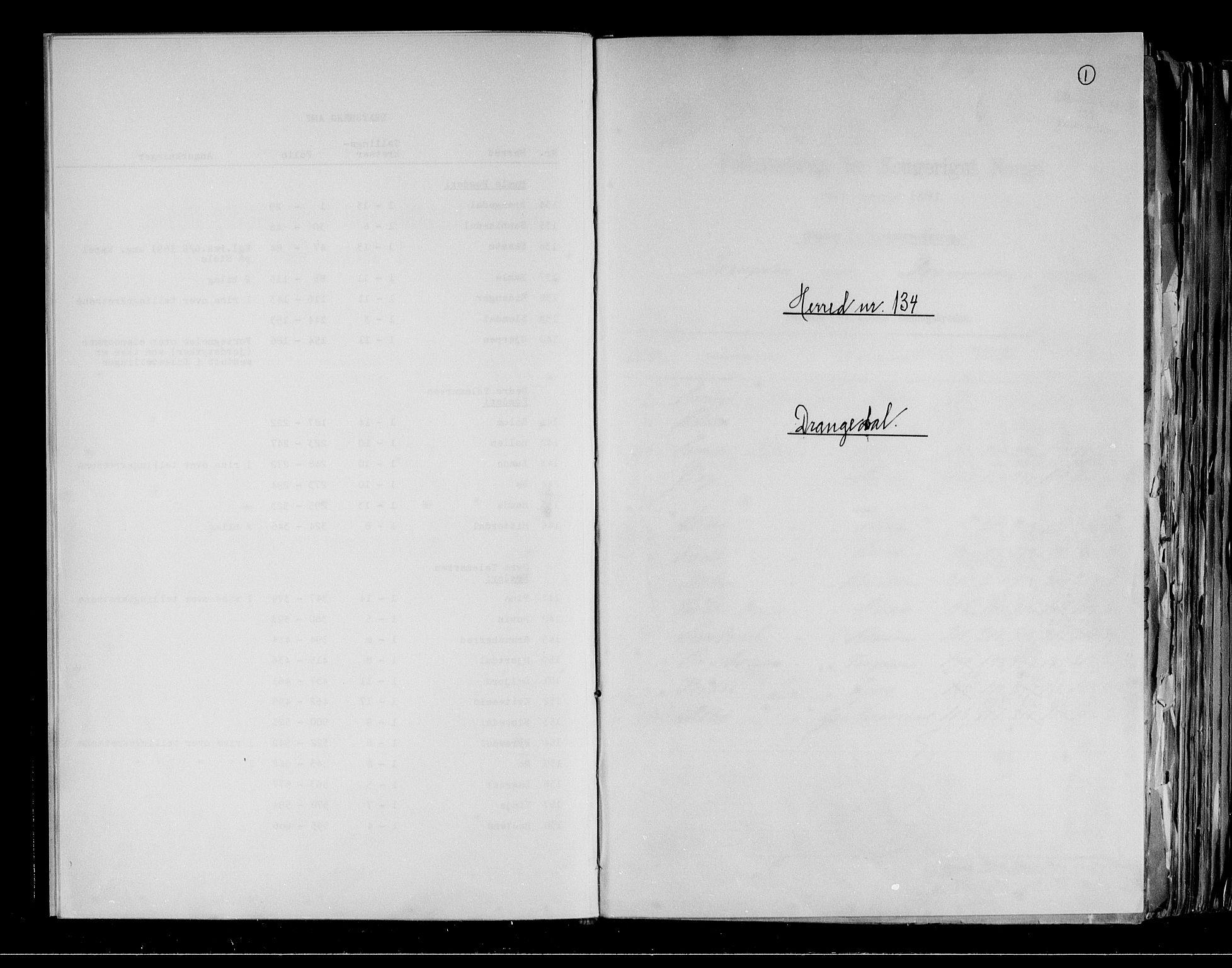 RA, Folketelling 1891 for 0817 Drangedal herred, 1891, s. 1