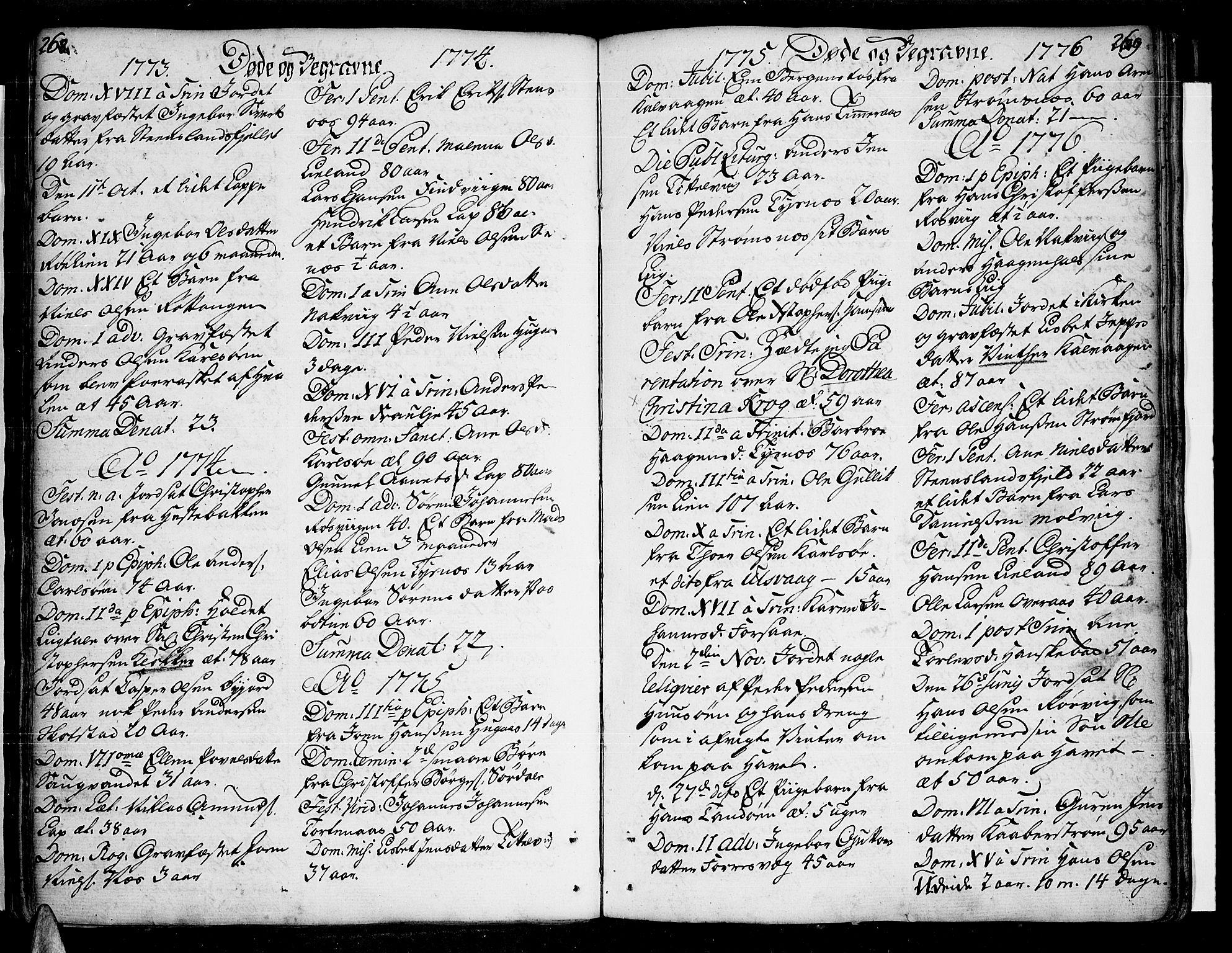 SAT, Ministerialprotokoller, klokkerbøker og fødselsregistre - Nordland, 859/L0841: Ministerialbok nr. 859A01, 1766-1821, s. 268-269