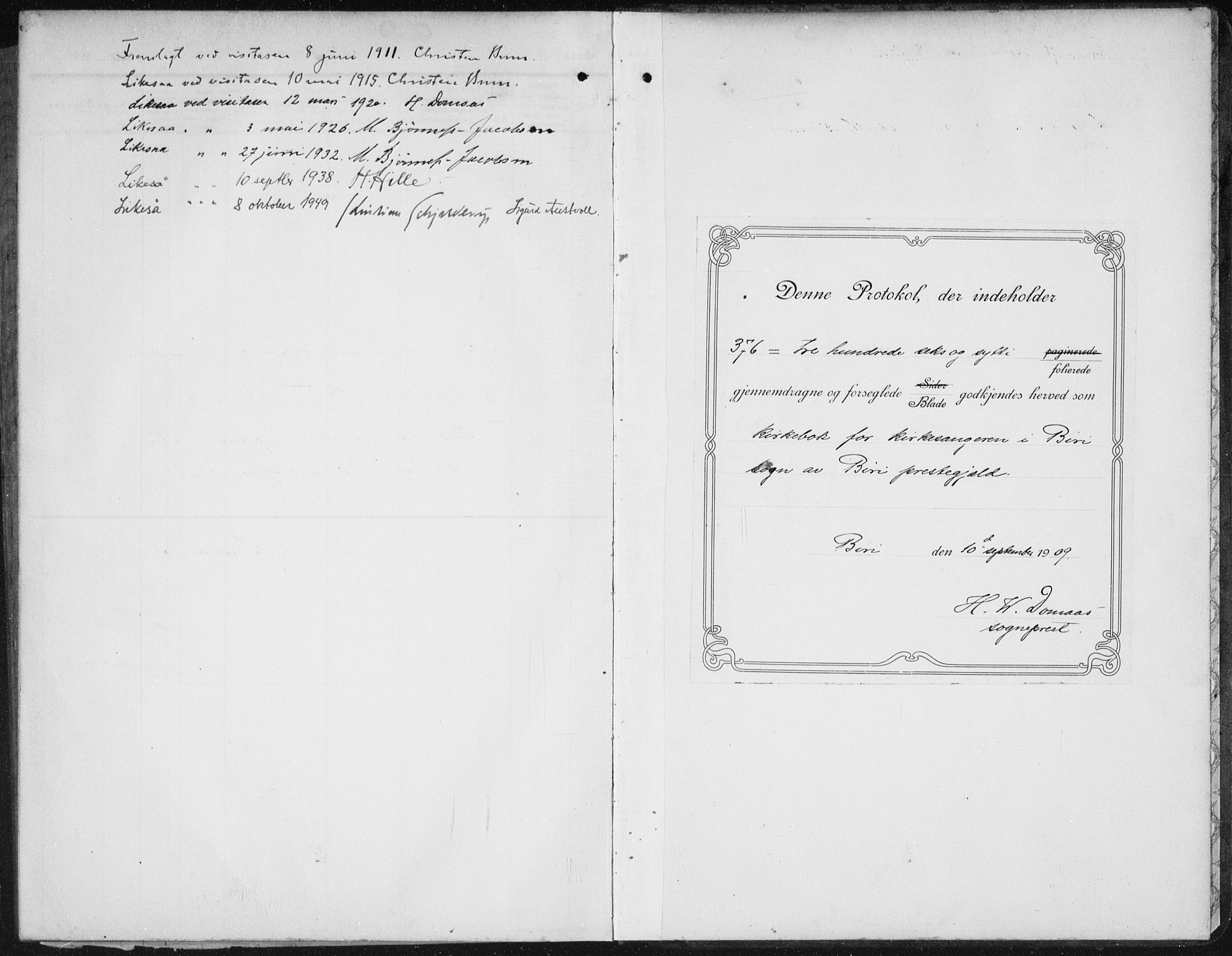 SAH, Biri prestekontor, Klokkerbok nr. 6, 1909-1938, s. 366