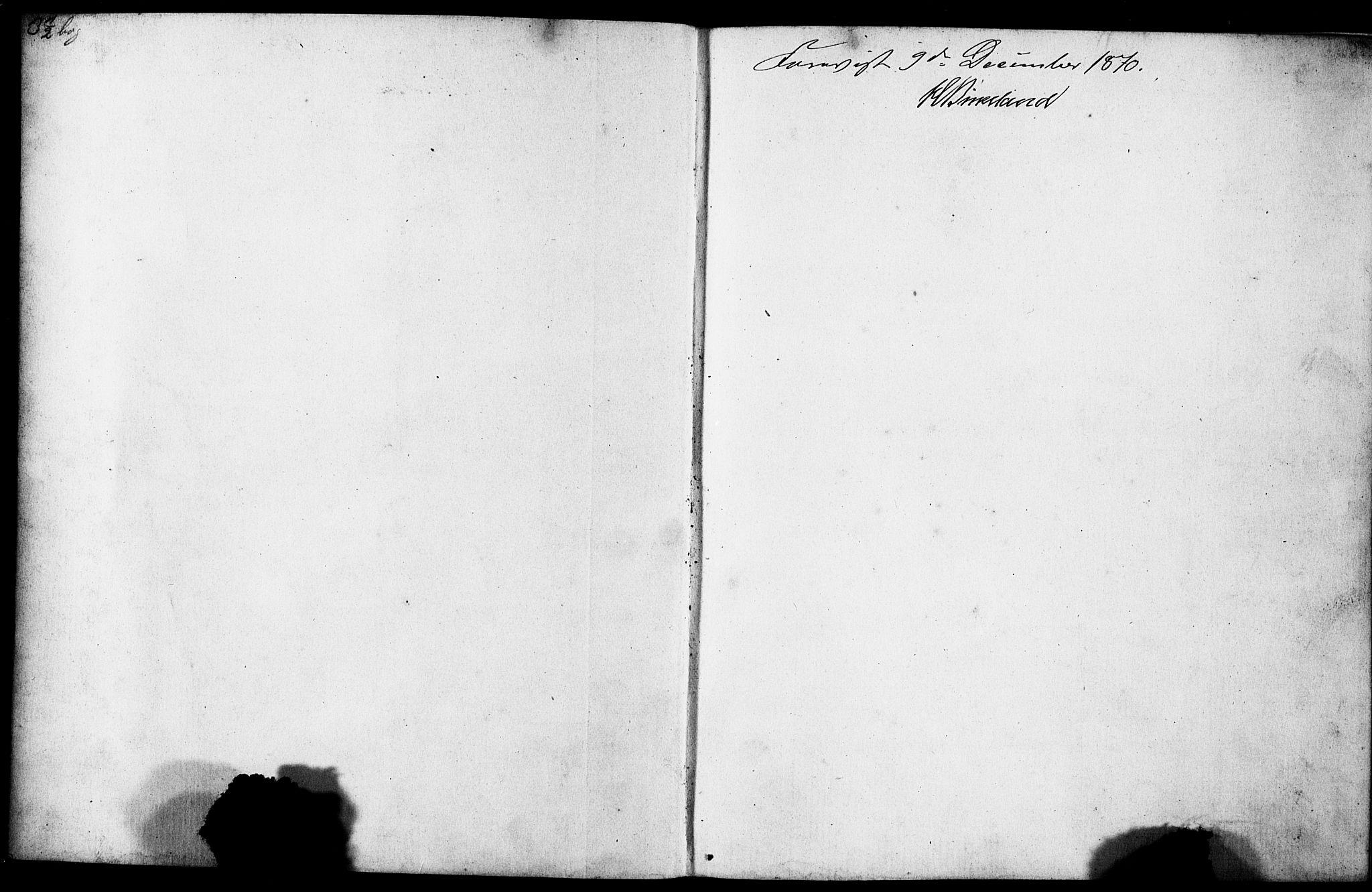 SAB, Domkirken Sokneprestembete, Forlovererklæringer nr. II.5.7, 1870-1876, s. 1
