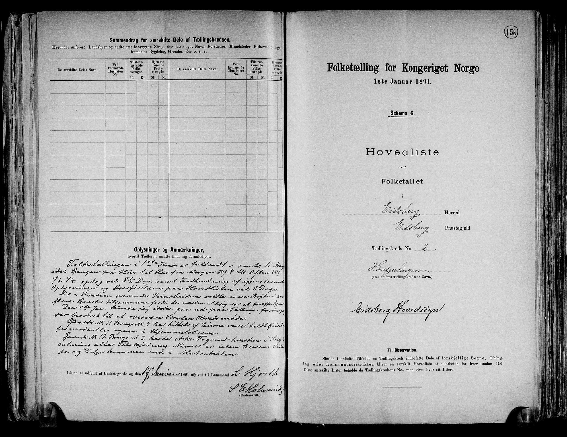 RA, Folketelling 1891 for 0125 Eidsberg herred, 1891, s. 8