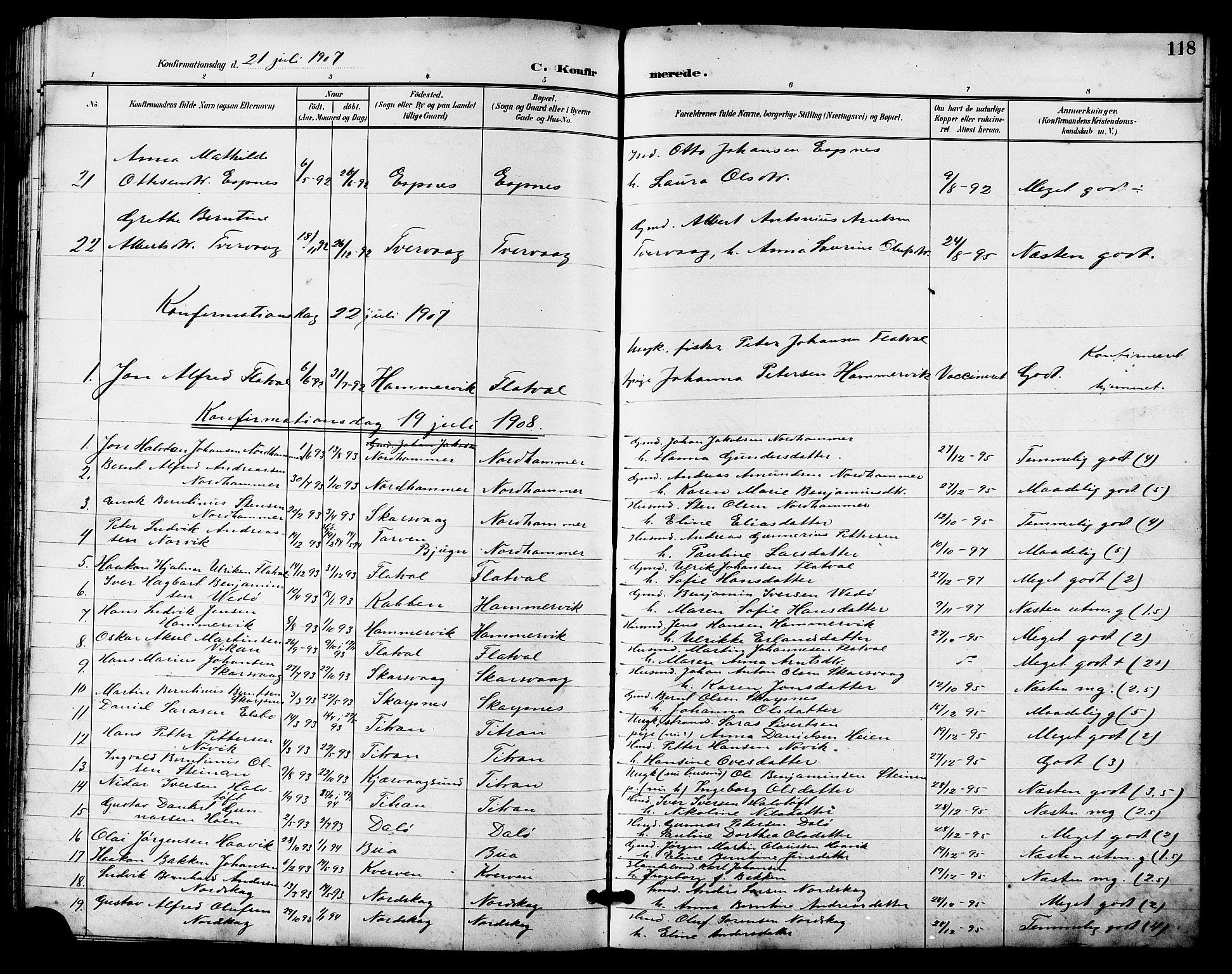 SAT, Ministerialprotokoller, klokkerbøker og fødselsregistre - Sør-Trøndelag, 641/L0598: Klokkerbok nr. 641C02, 1893-1910, s. 118