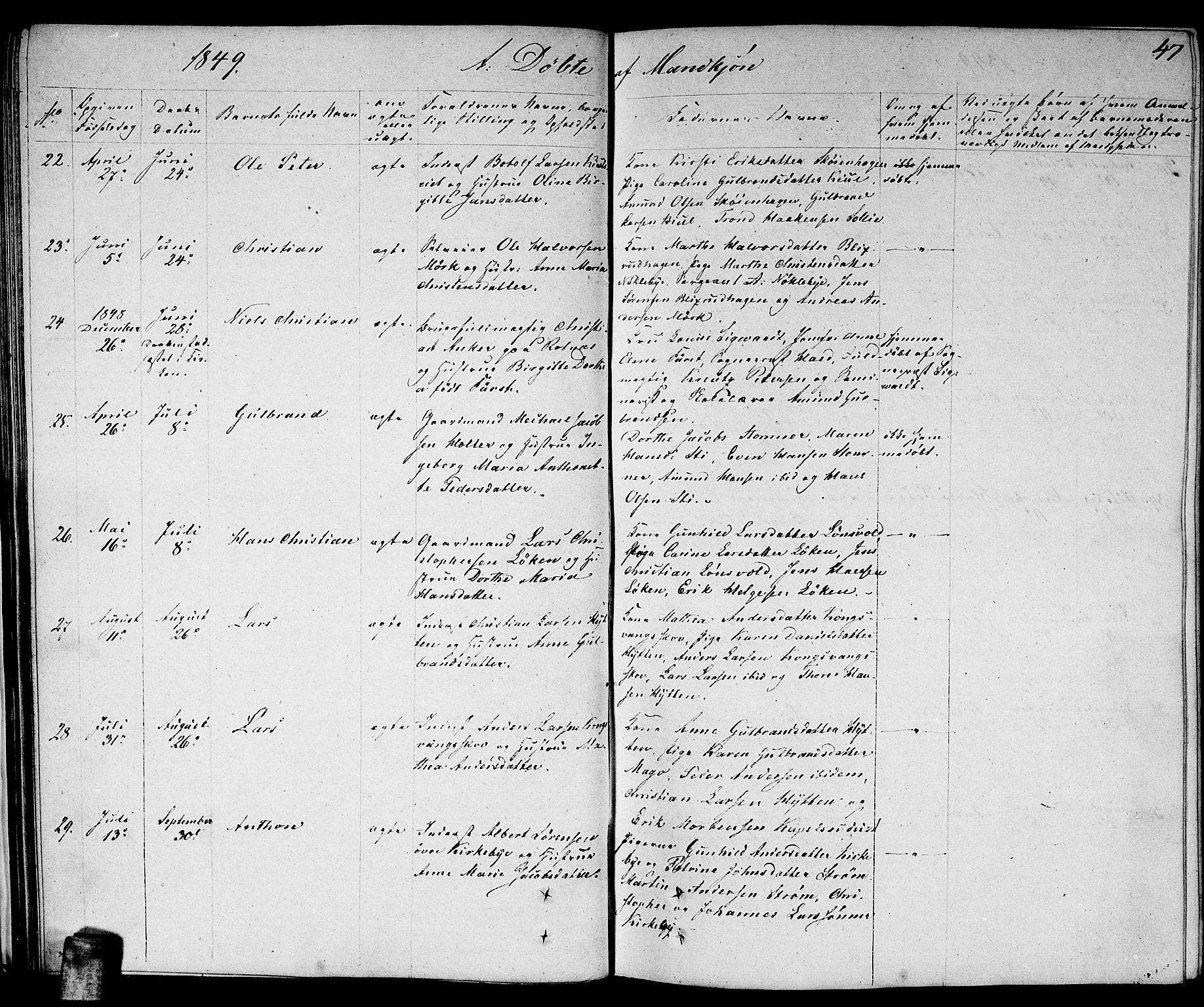 SAO, Nittedal prestekontor Kirkebøker, F/Fa/L0004: Ministerialbok nr. I 4, 1836-1849, s. 47