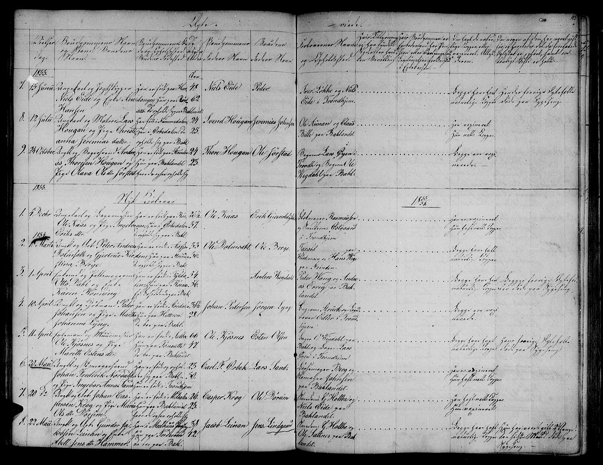 SAT, Ministerialprotokoller, klokkerbøker og fødselsregistre - Sør-Trøndelag, 604/L0182: Ministerialbok nr. 604A03, 1818-1850, s. 103