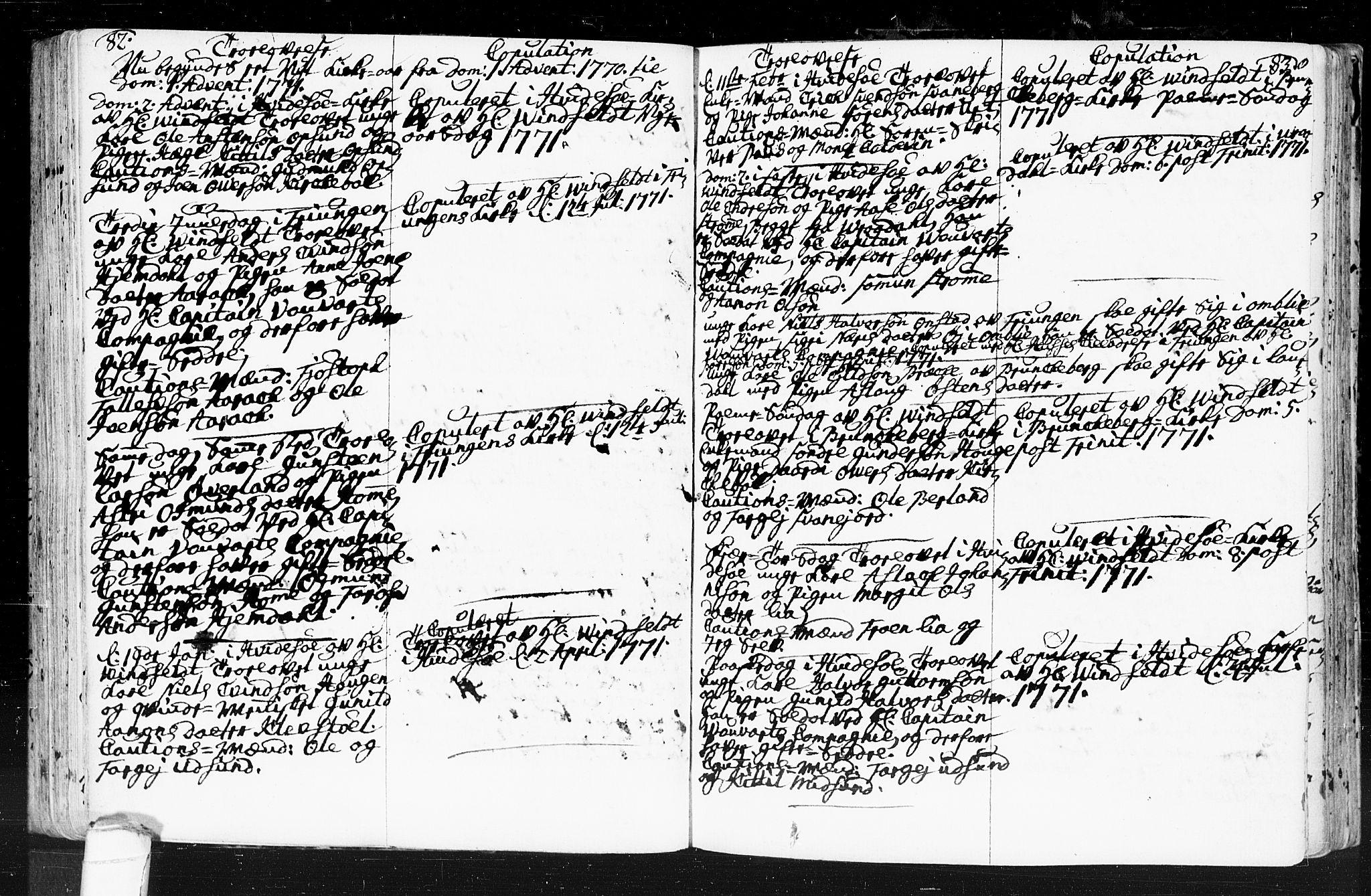 SAKO, Kviteseid kirkebøker, F/Fa/L0001: Ministerialbok nr. I 1, 1754-1773, s. 82-83
