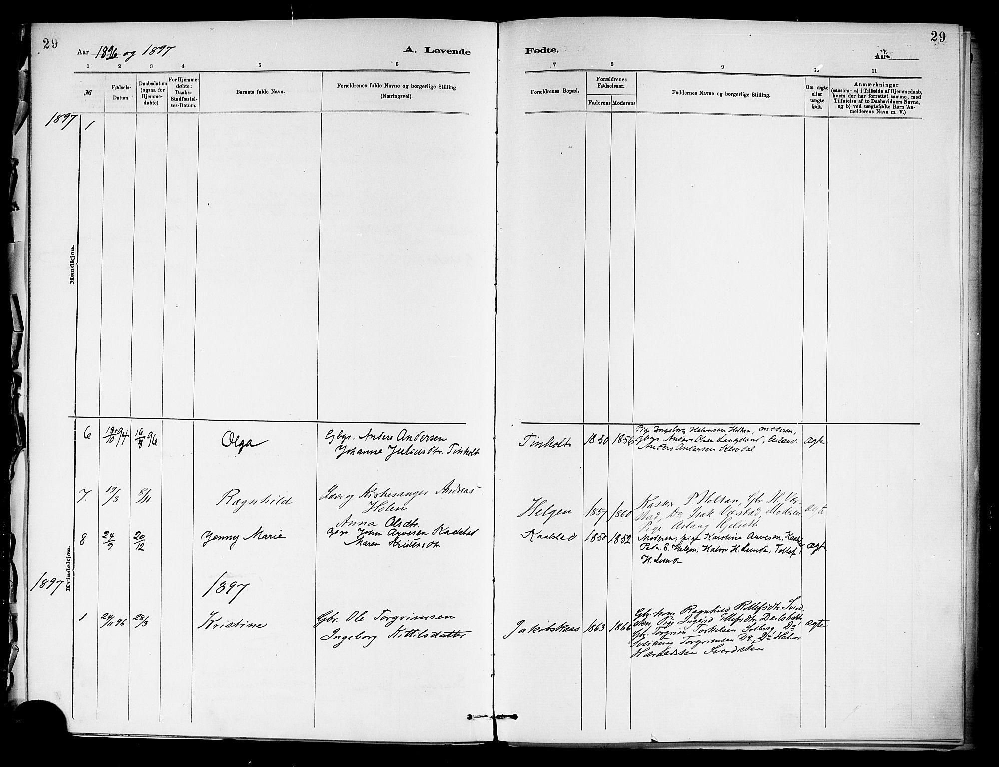 SAKO, Holla kirkebøker, F/Fa/L0009: Ministerialbok nr. 9, 1881-1897, s. 29