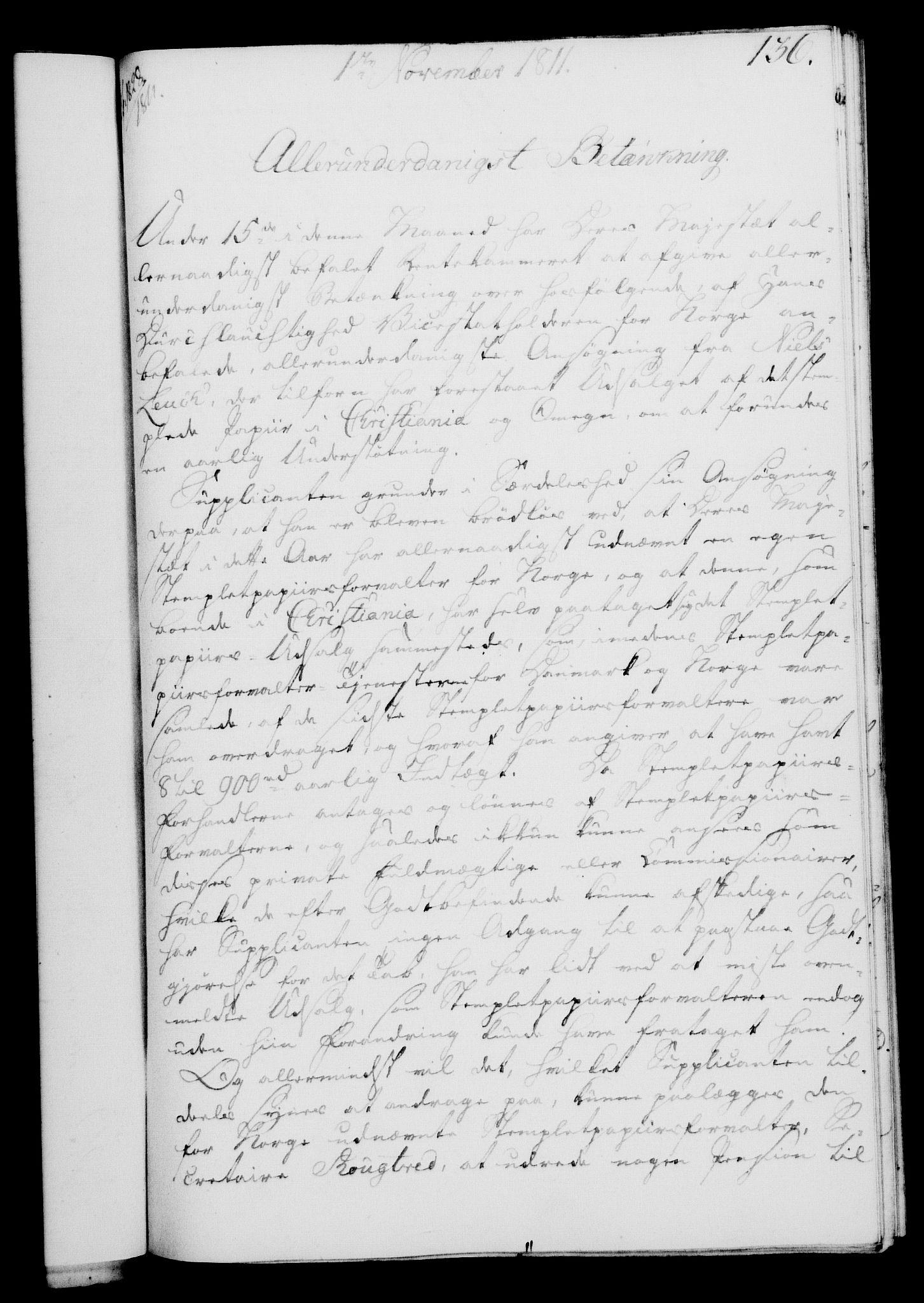 RA, Rentekammeret, Kammerkanselliet, G/Gf/Gfa/L0093: Norsk relasjons- og resolusjonsprotokoll (merket RK 52.93), 1811, s. 543