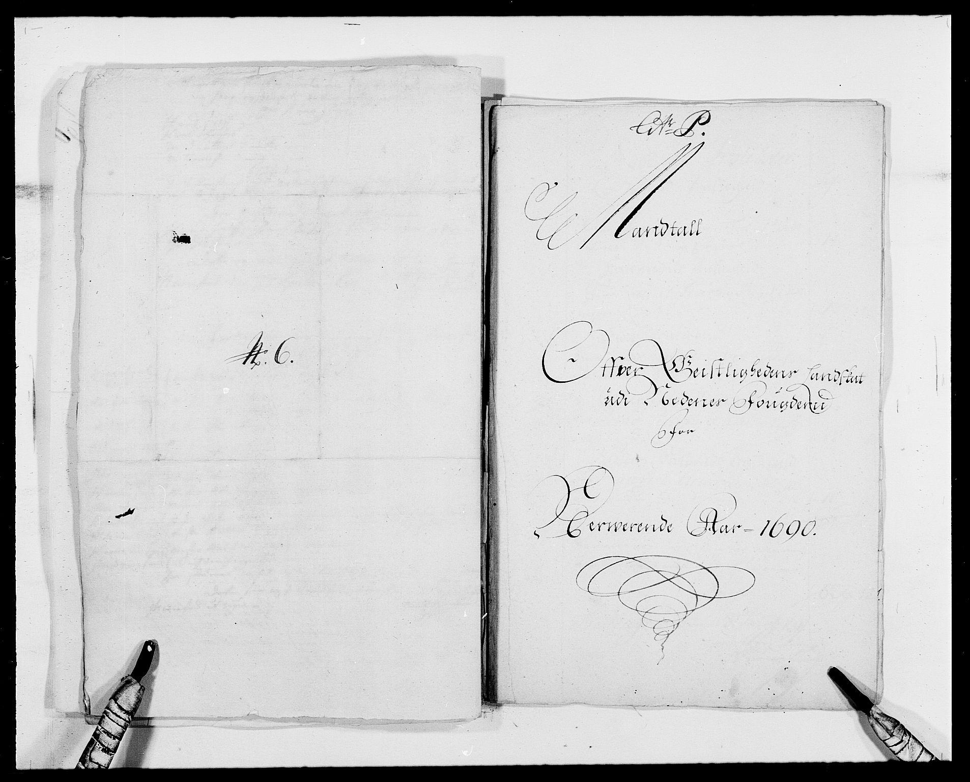 RA, Rentekammeret inntil 1814, Reviderte regnskaper, Fogderegnskap, R39/L2310: Fogderegnskap Nedenes, 1690-1692, s. 284