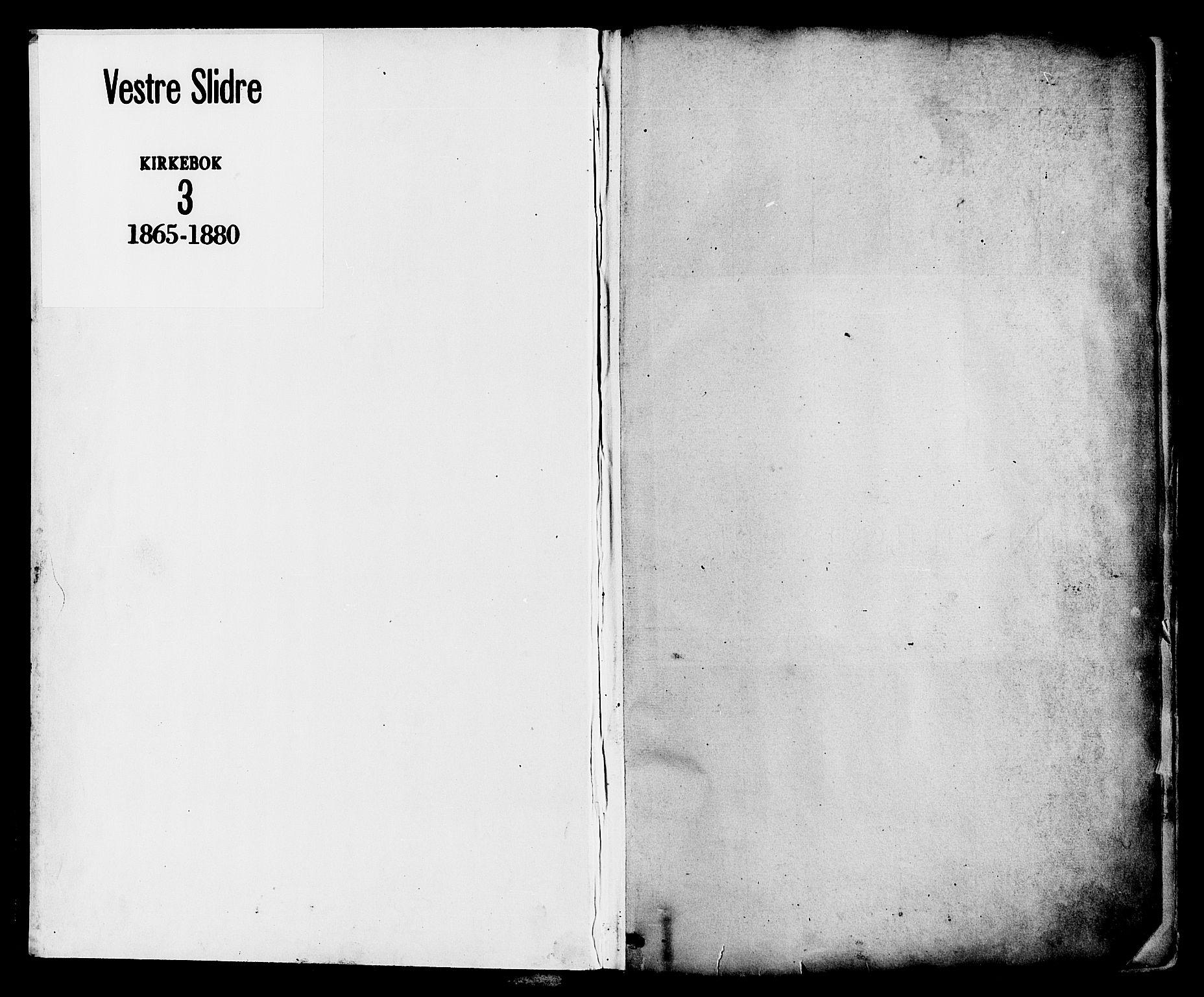 SAH, Vestre Slidre prestekontor, Ministerialbok nr. 3, 1865-1880, s. 1