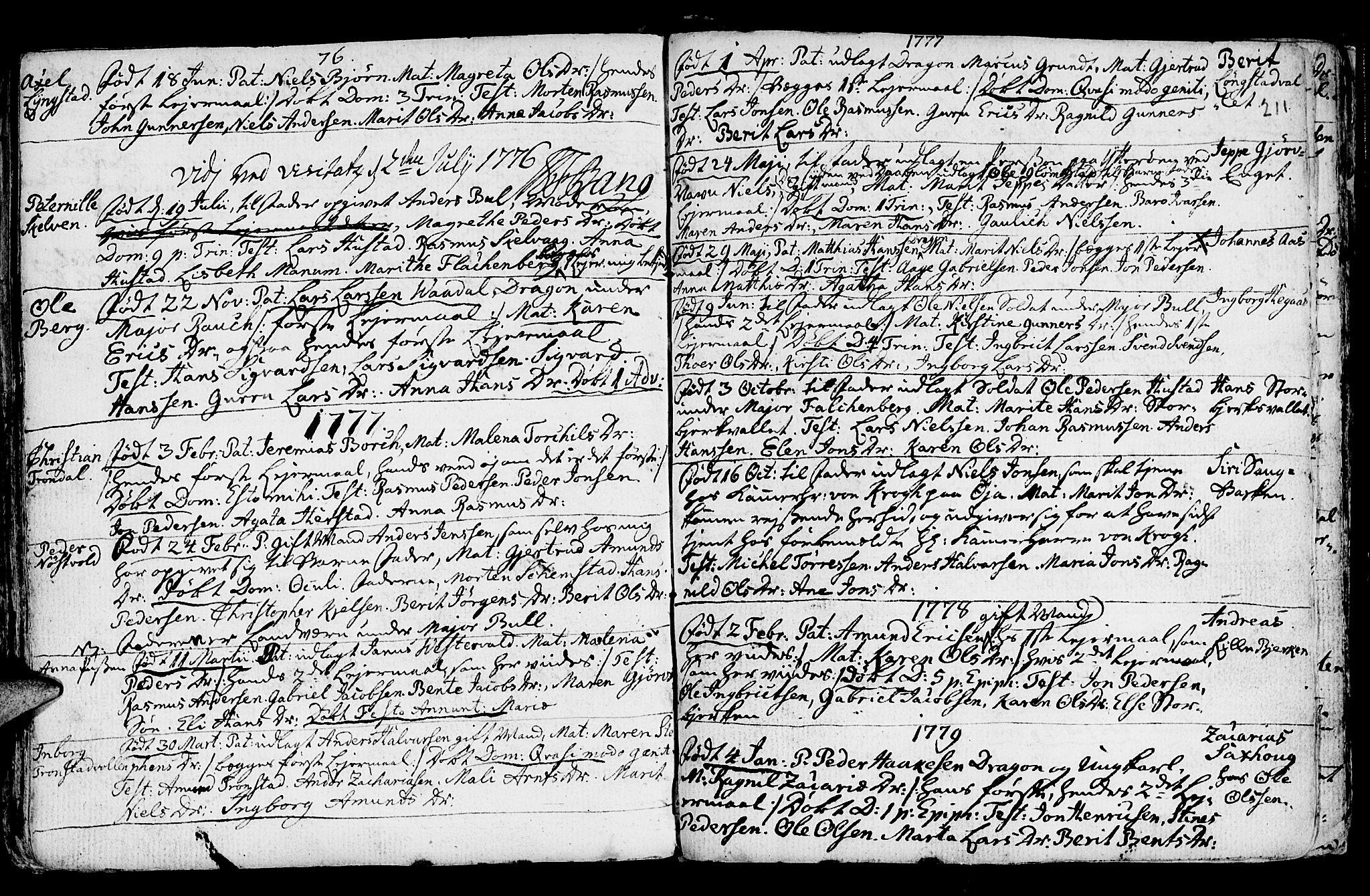 SAT, Ministerialprotokoller, klokkerbøker og fødselsregistre - Nord-Trøndelag, 730/L0273: Ministerialbok nr. 730A02, 1762-1802, s. 211