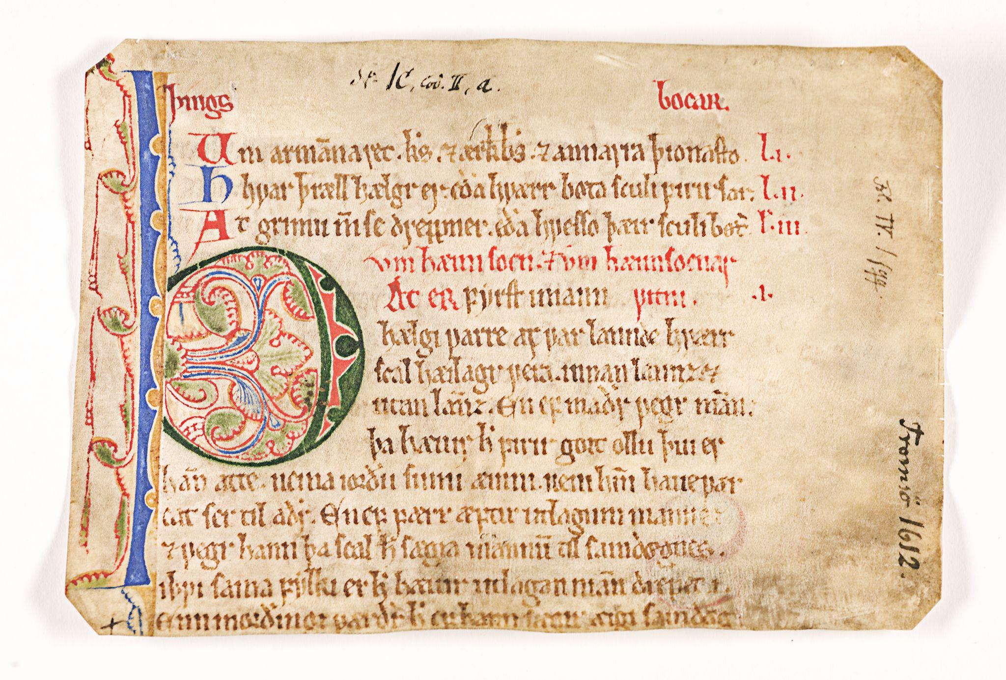 RA, Riksarkivets diplomsamling, F26/L0001: Norrøne membranfragmenter bestand 1, 1100-1536, s. 23