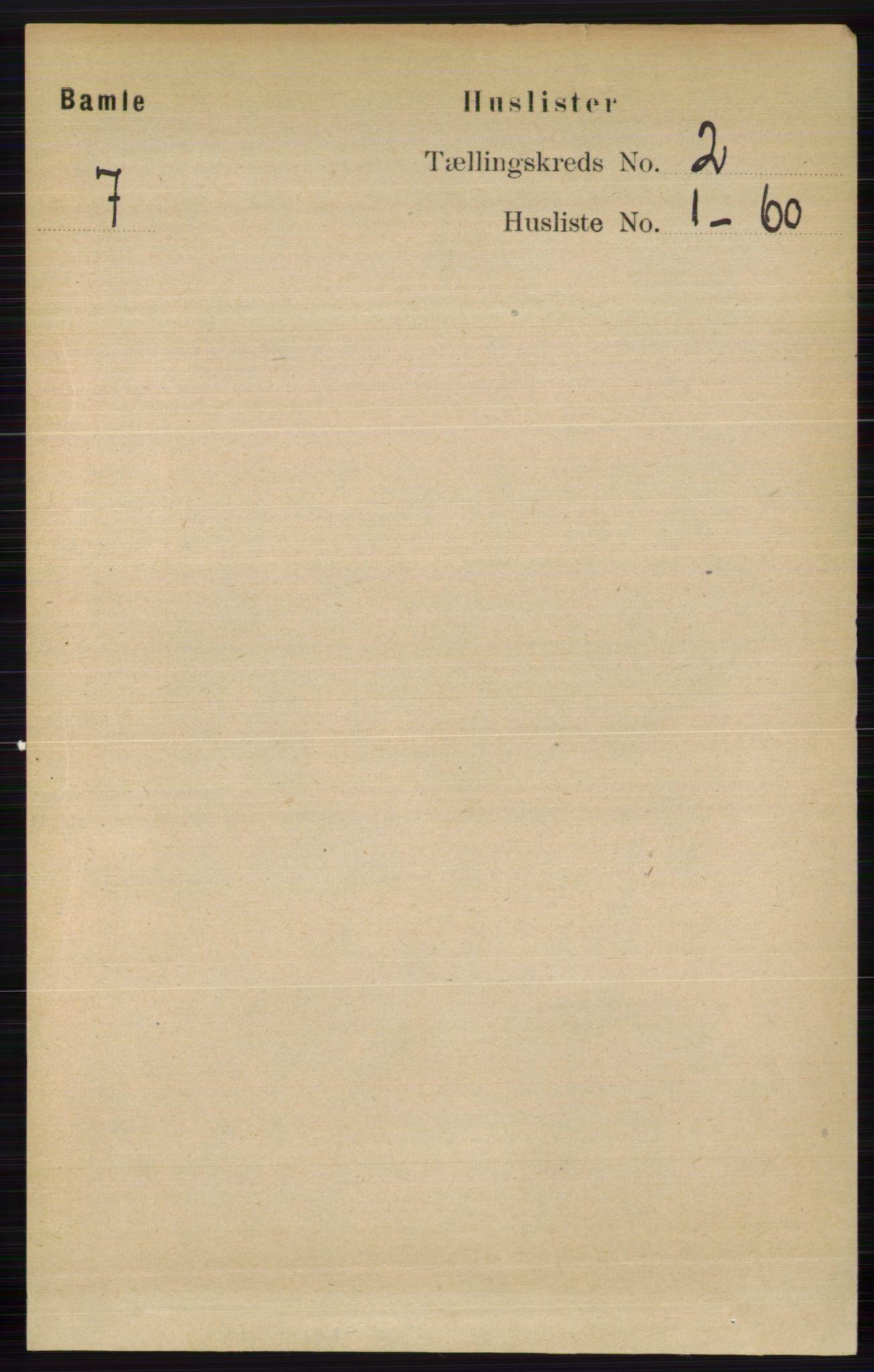 RA, Folketelling 1891 for 0814 Bamble herred, 1891, s. 939