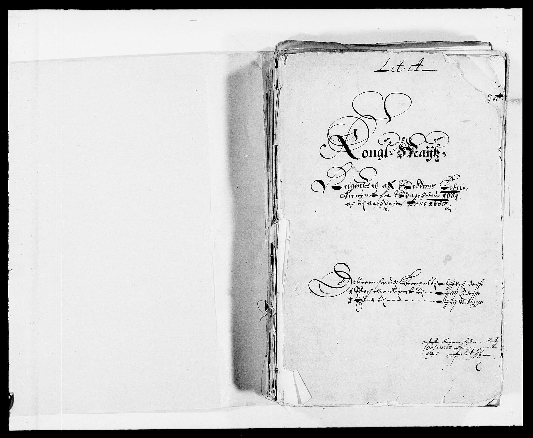 RA, Rentekammeret inntil 1814, Reviderte regnskaper, Fogderegnskap, R39/L2296: Fogderegnskap Nedenes, 1664-1666, s. 2